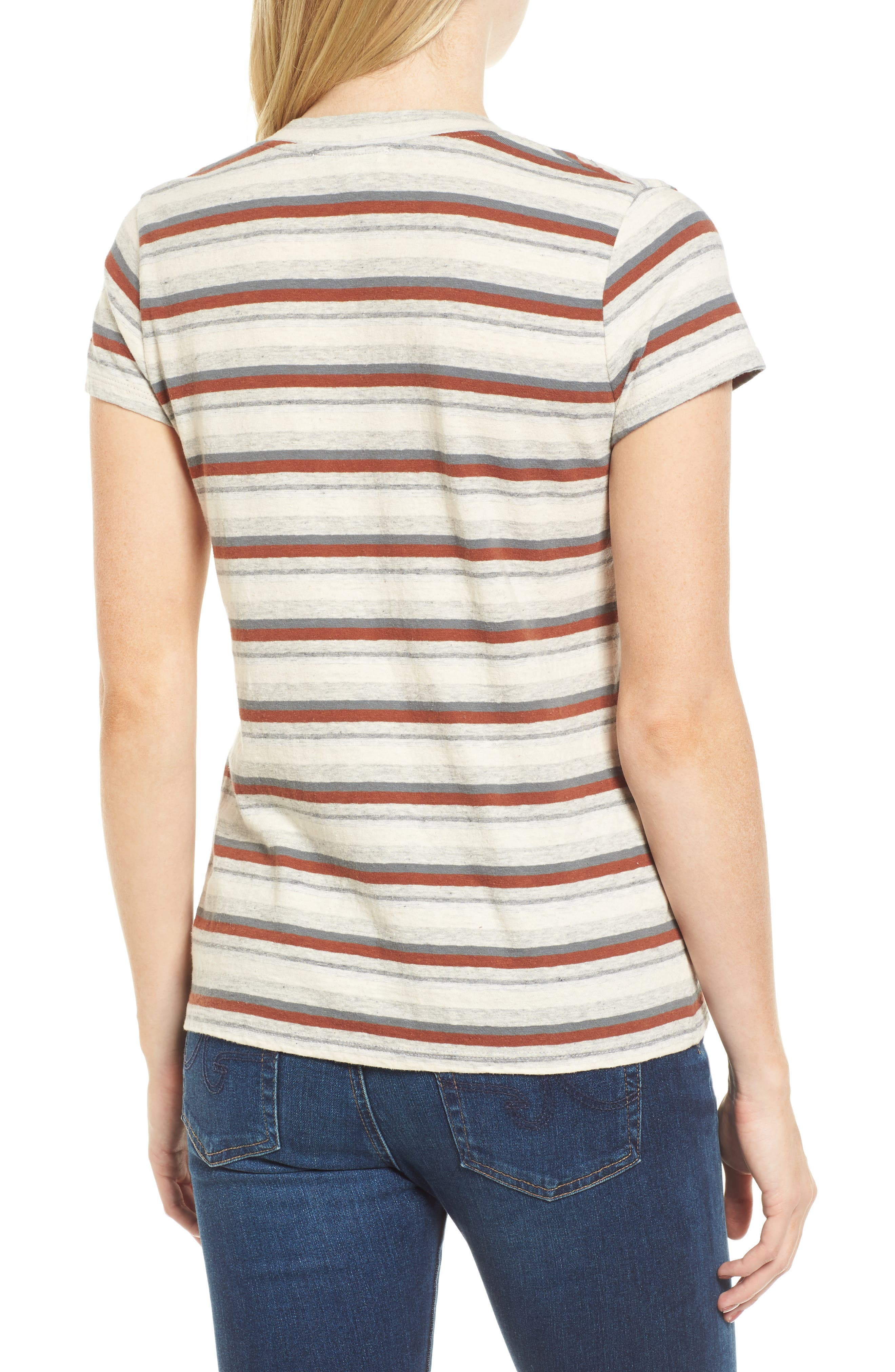 Stripe Tee,                             Alternate thumbnail 2, color,                             038