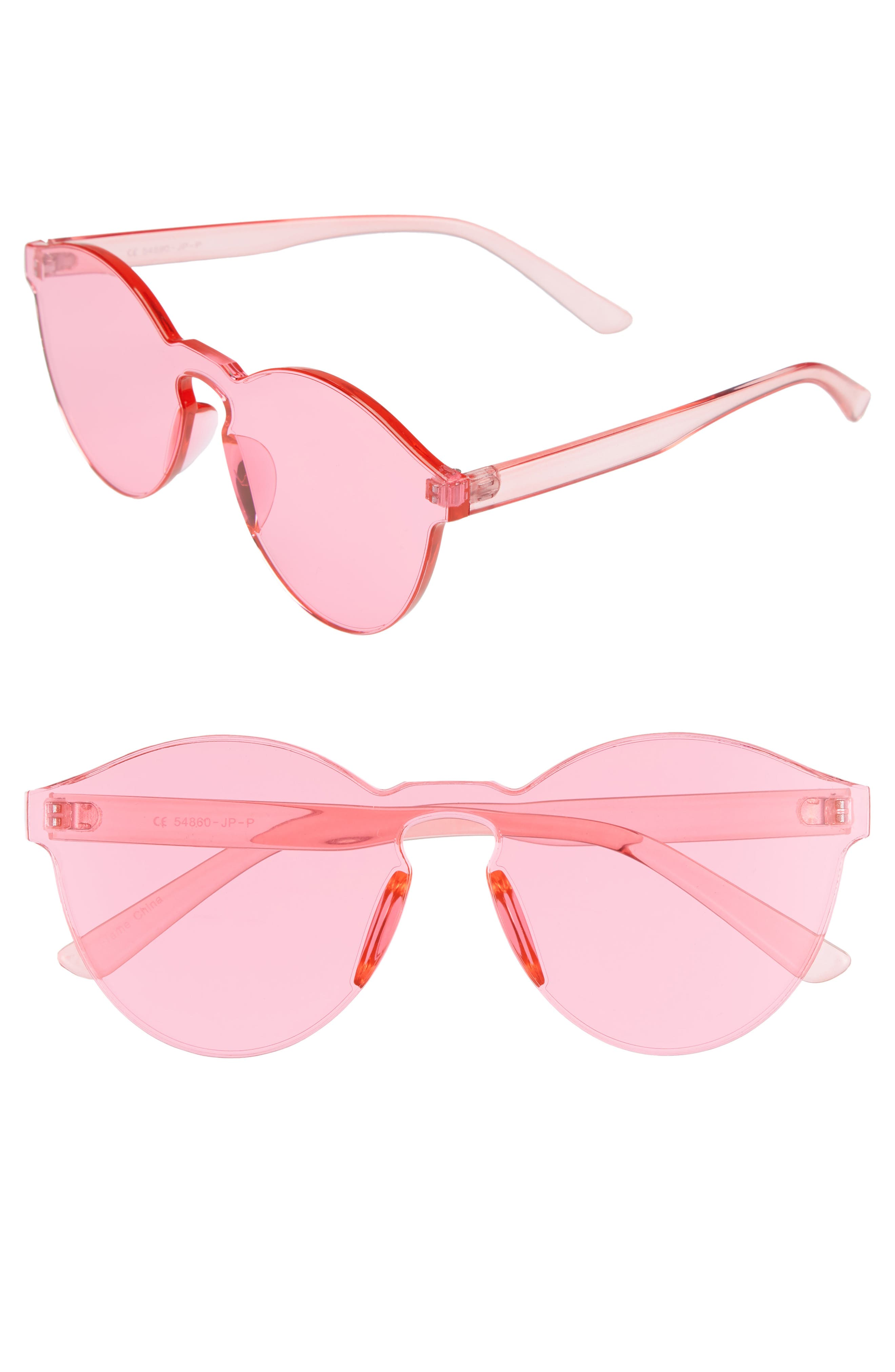 59mm Rimless Round Sunglasses,                             Main thumbnail 1, color,                             650