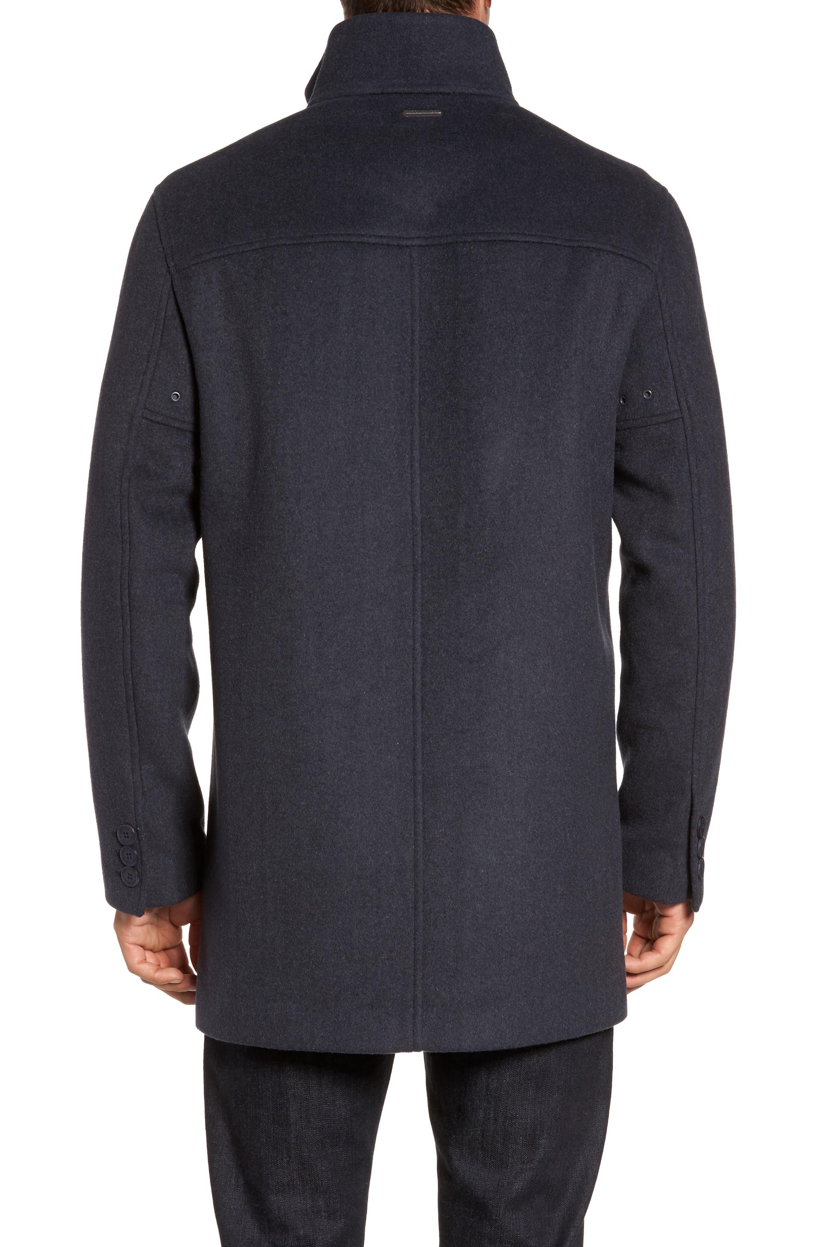 Double Face Wool Blend Car Coat,                             Alternate thumbnail 4, color,