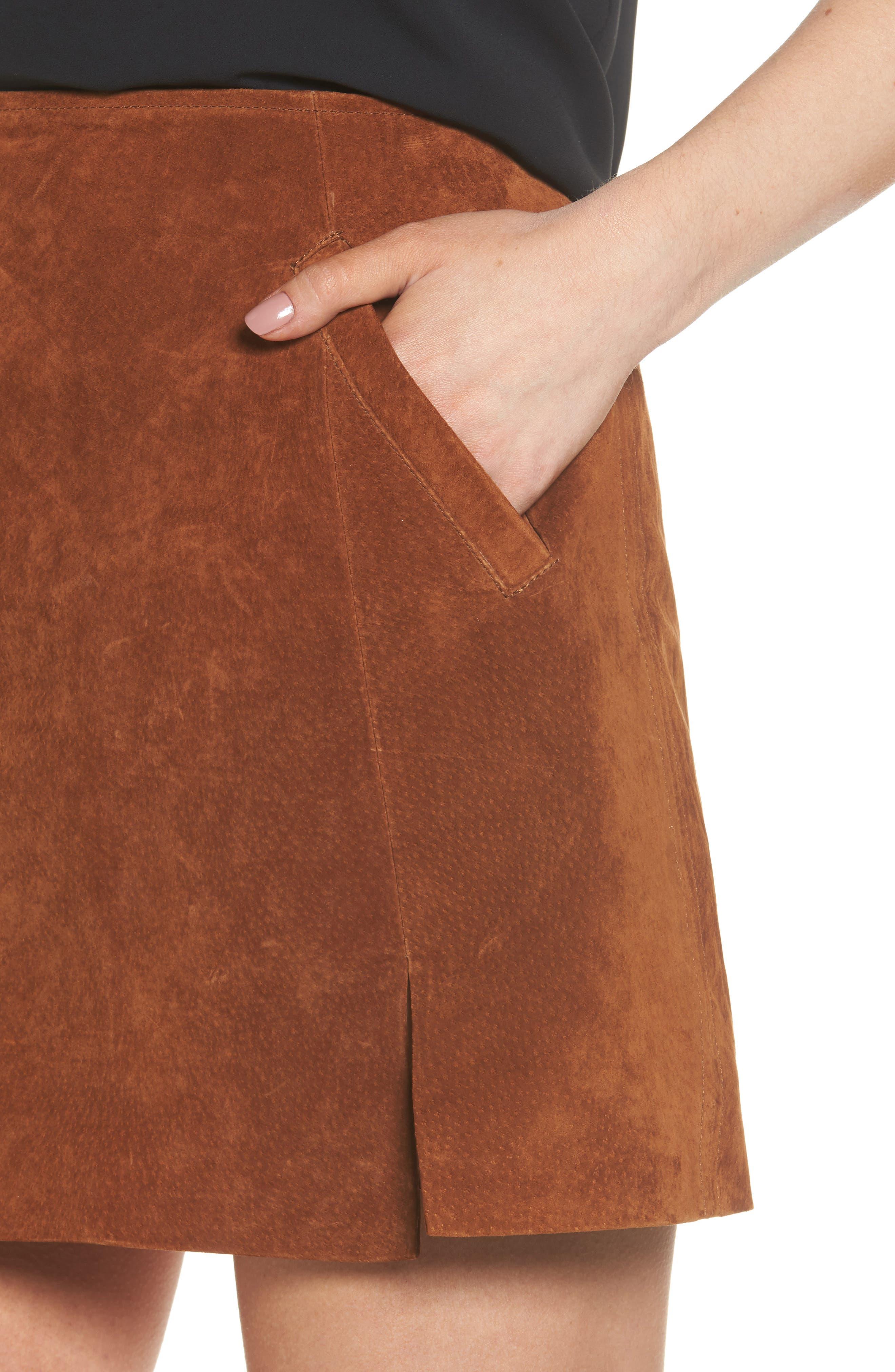 Suede Miniskirt,                             Alternate thumbnail 26, color,