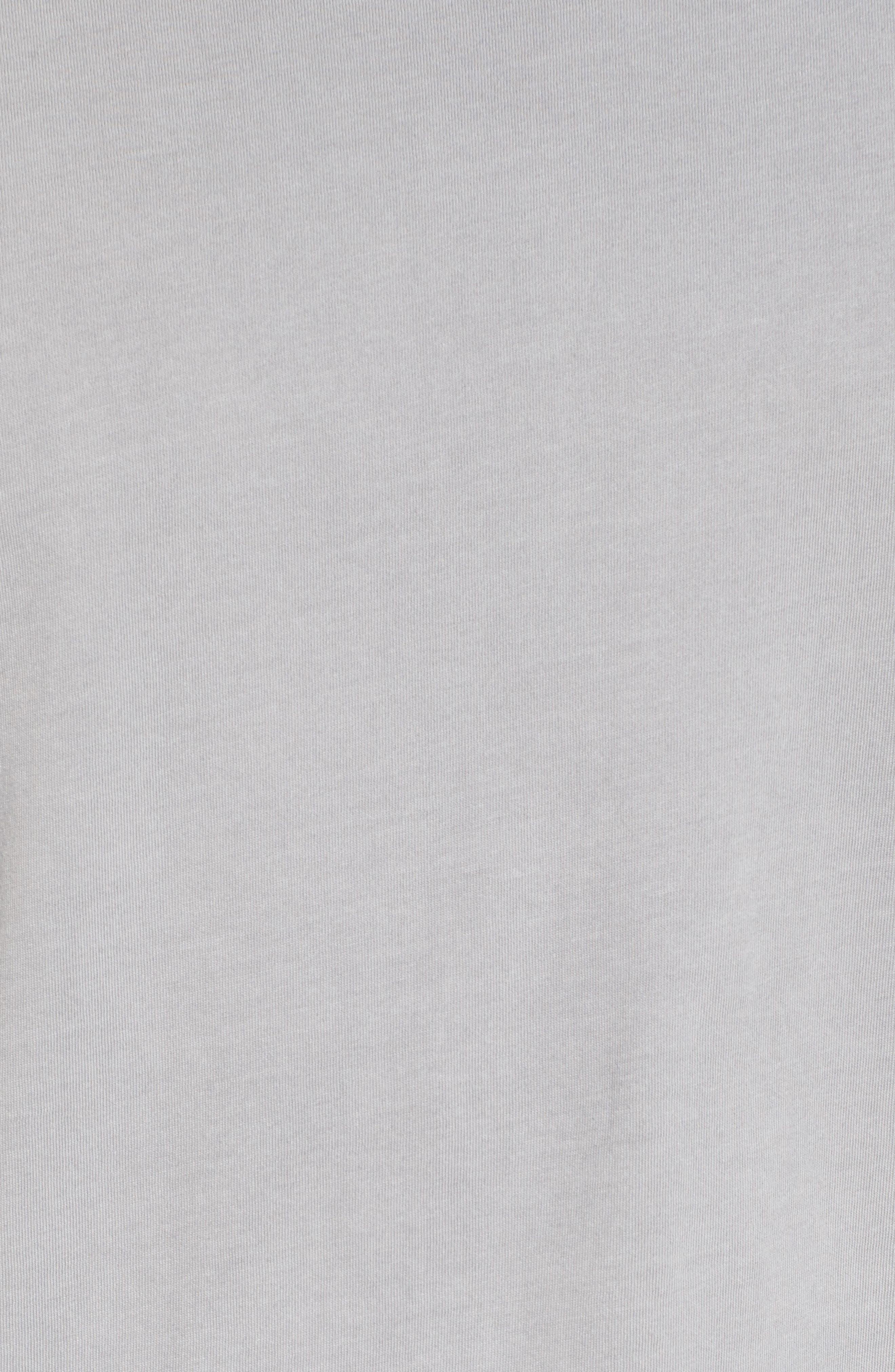 Peruvian Pima Cotton Crewneck T-Shirt,                             Alternate thumbnail 5, color,                             020