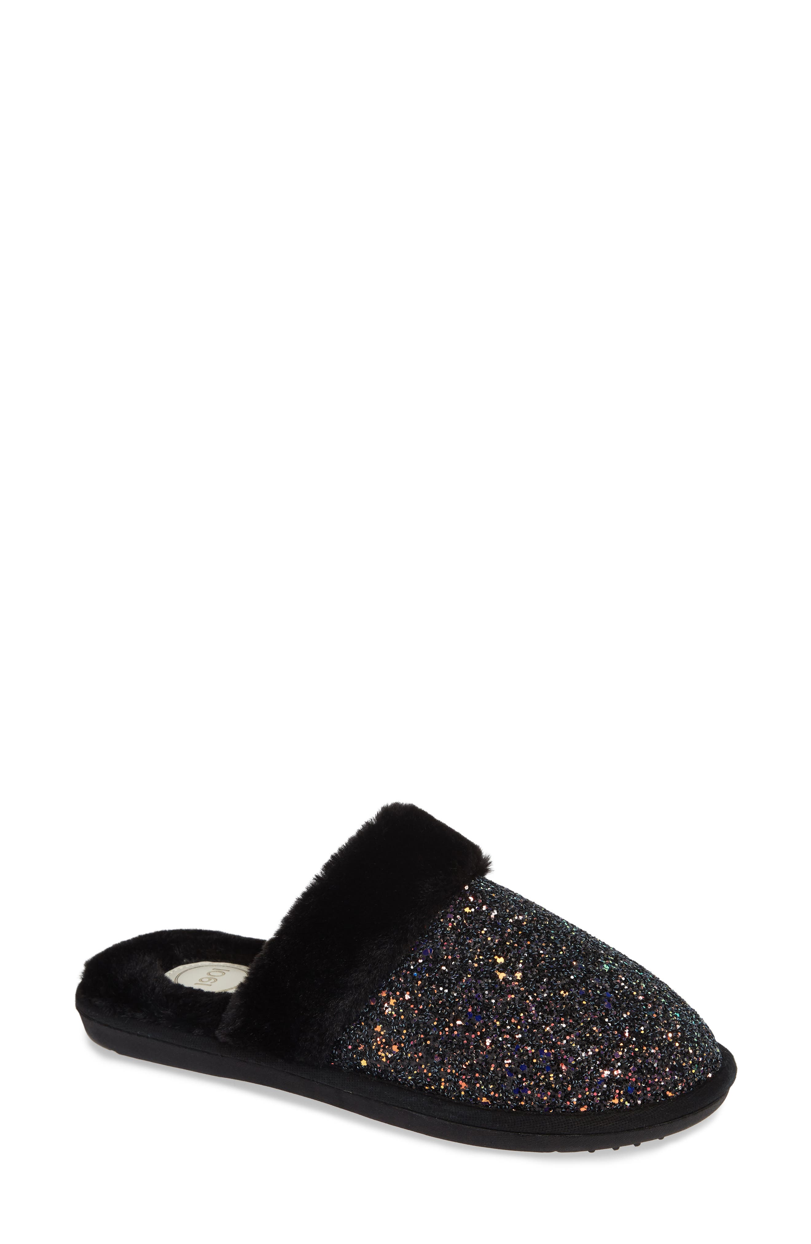 Briggs Scuff Slipper,                         Main,                         color, BLACK GLITTER MULTI
