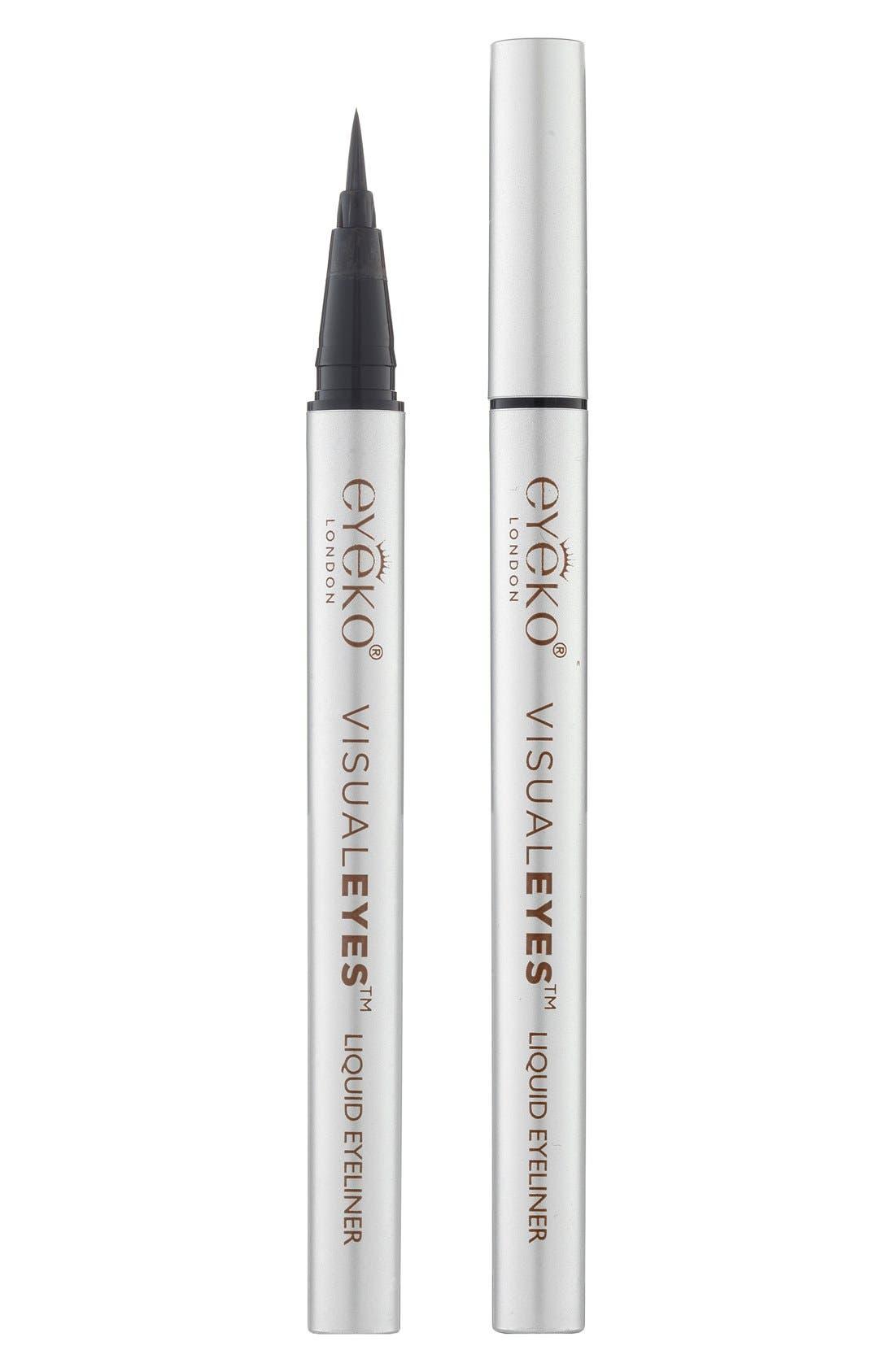'Visual Eyes' Liquid Eyeliner, Main, color, 001
