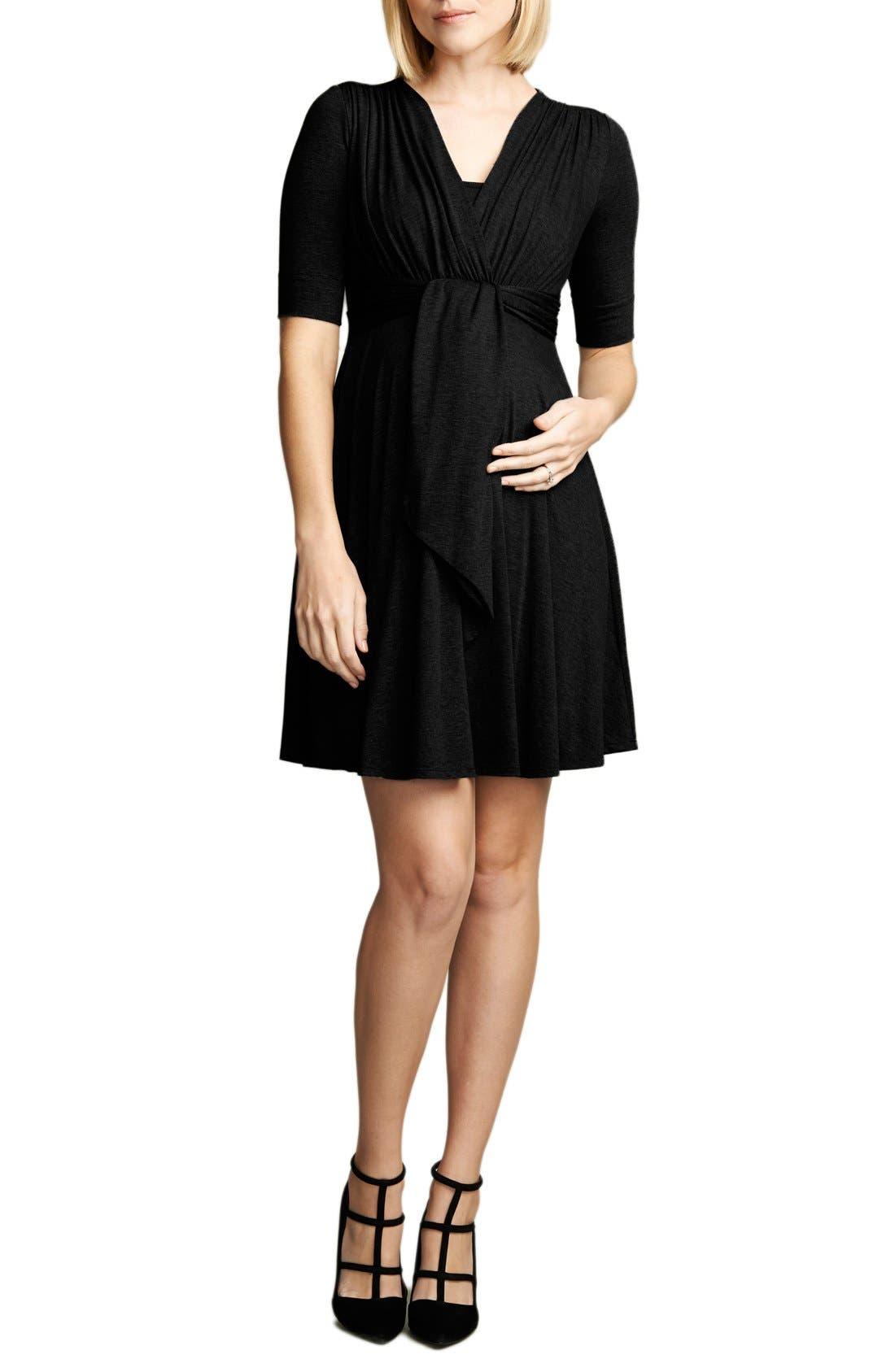 Front Tie Nursing Dress,                         Main,                         color, 001