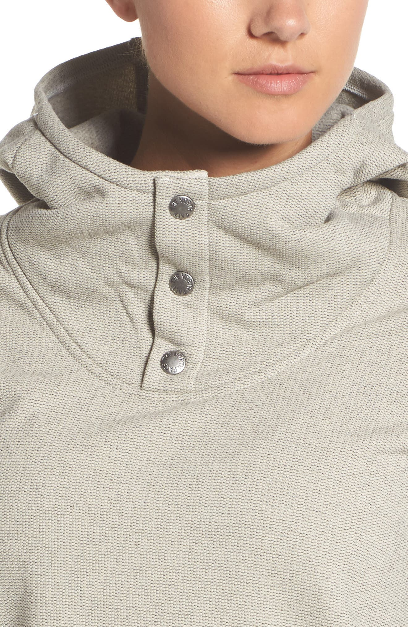 Knit Stitch Fleece Hoodie,                             Alternate thumbnail 9, color,