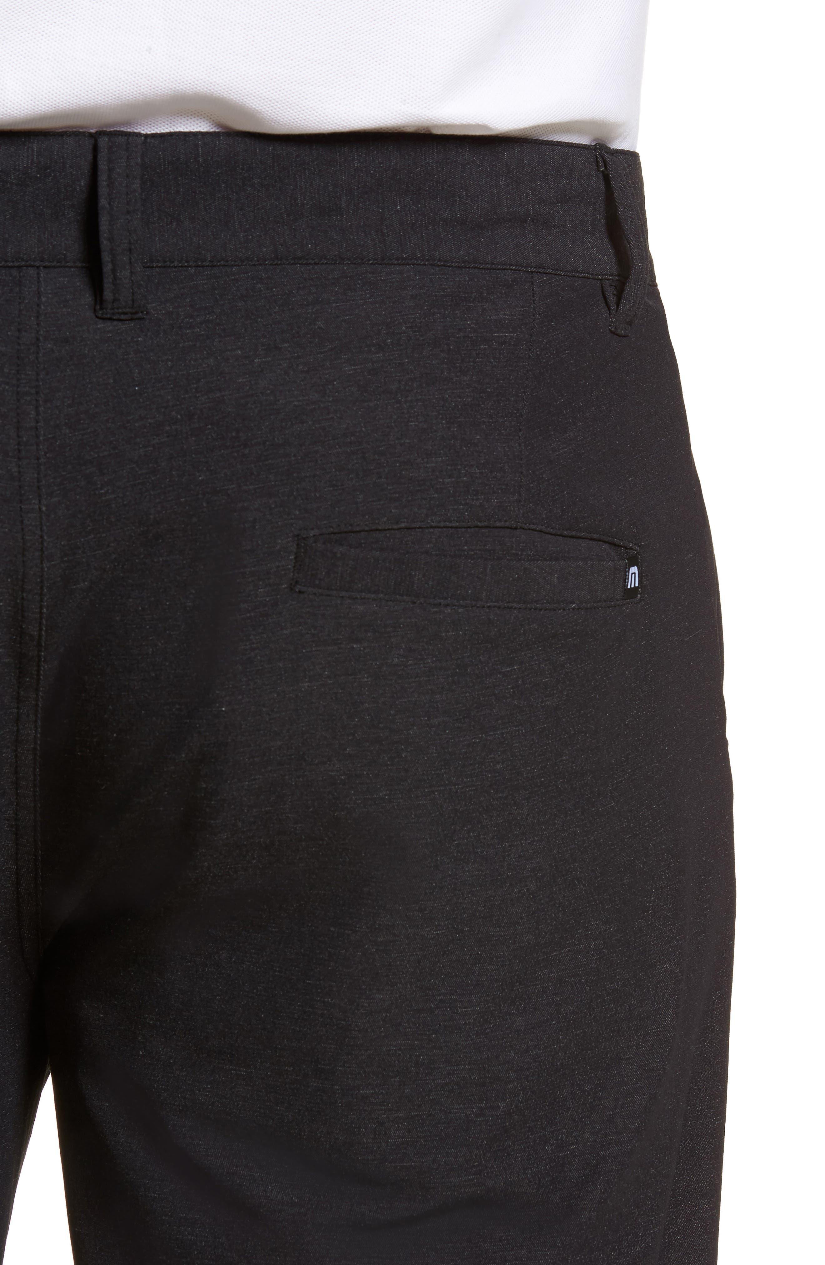 Mercurio Regular Fit Four-Way Stretch Pants,                             Alternate thumbnail 4, color,                             HEATHER BLACK