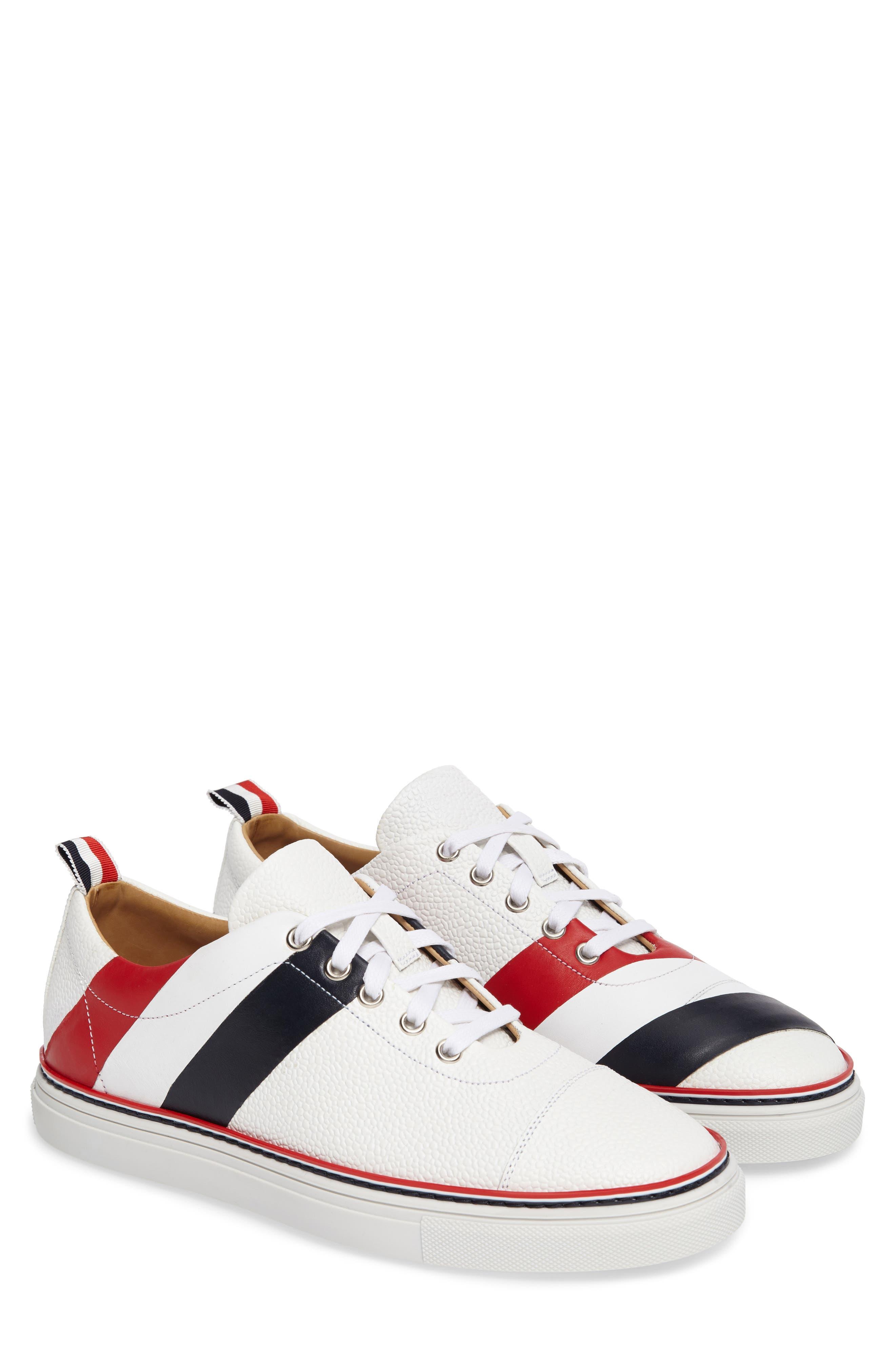 Asymmetrical Stripe Sneaker,                             Alternate thumbnail 2, color,                             100