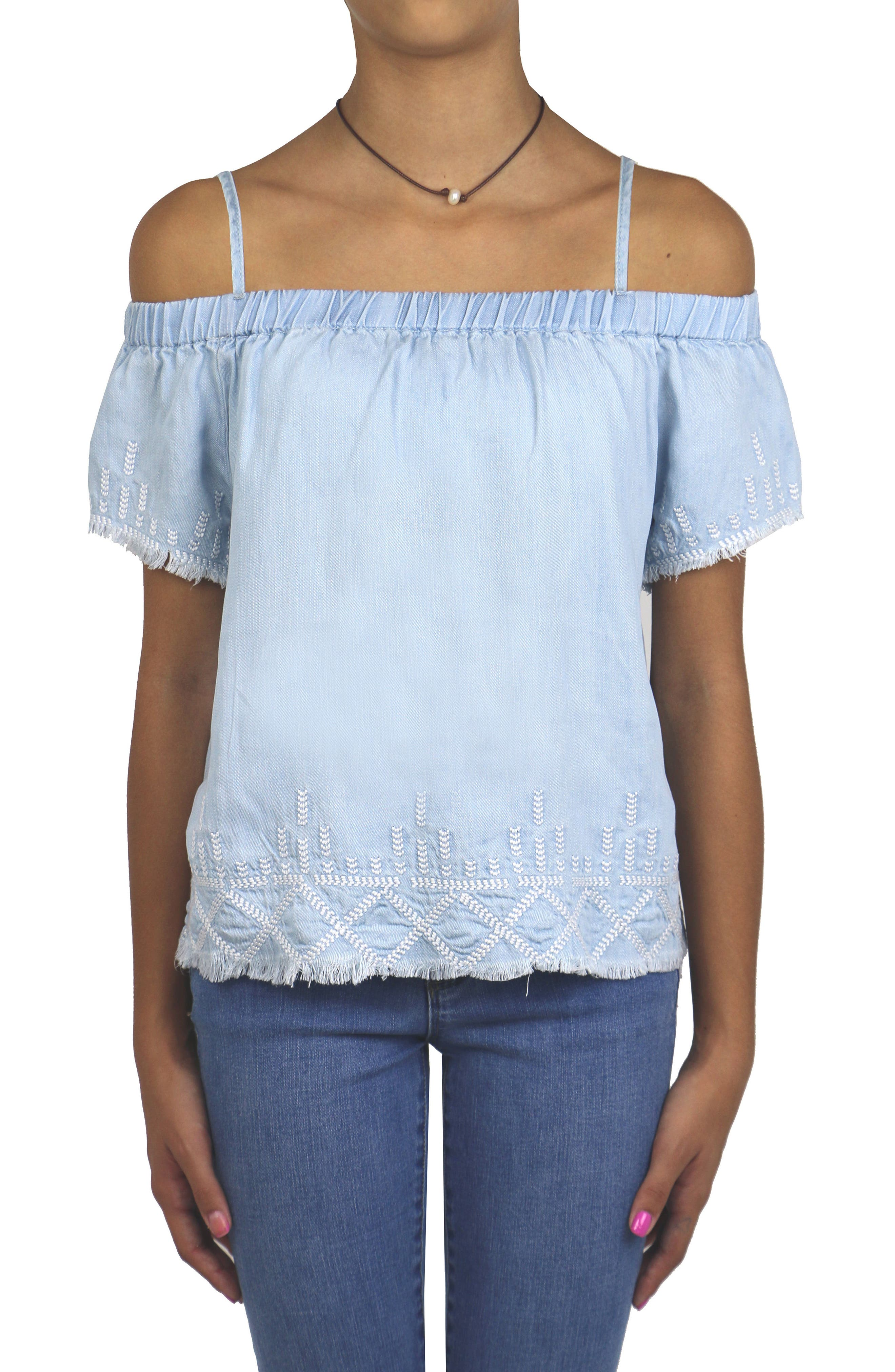 Embroidered Peasant Top,                             Alternate thumbnail 4, color,                             461