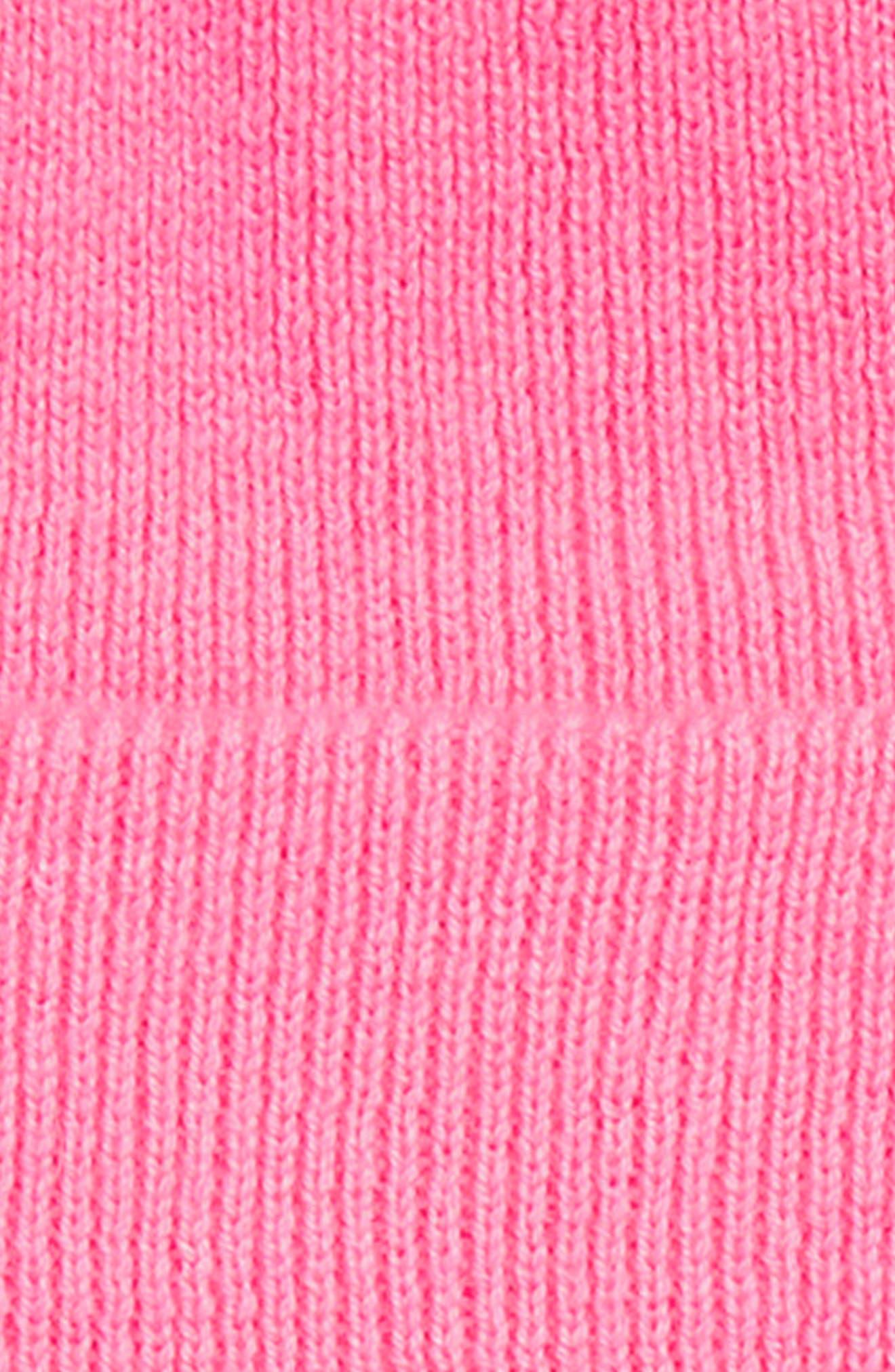Pinkipuff Genuine Shearling Trim Hat & Booties Gift Set,                             Alternate thumbnail 2, color,                             PINK AZALEA