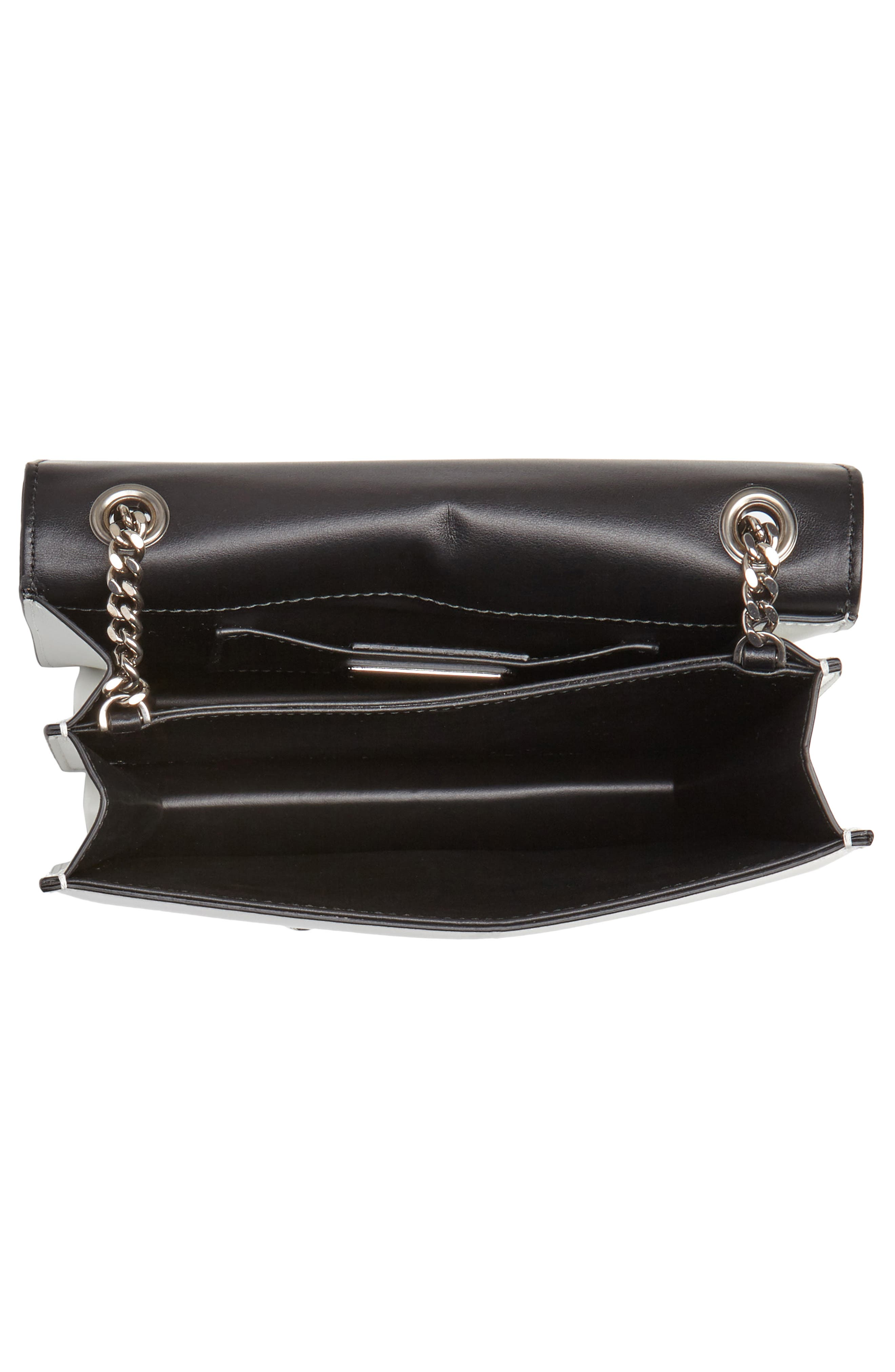Small Thalia Leather Shoulder Bag,                             Alternate thumbnail 4, color,                             WHITE