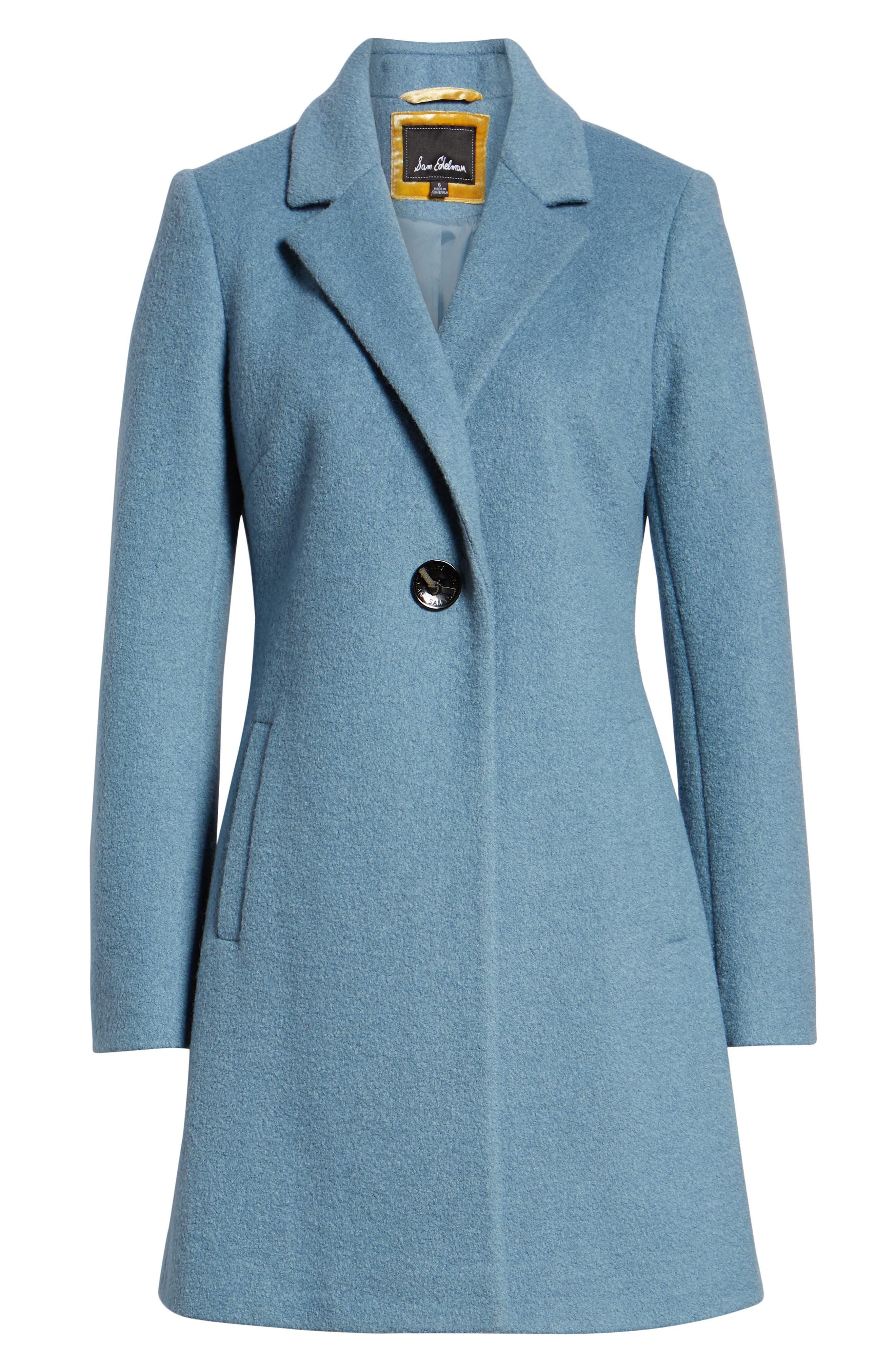 Blazer Jacket,                             Alternate thumbnail 6, color,                             LIGHT BLUE