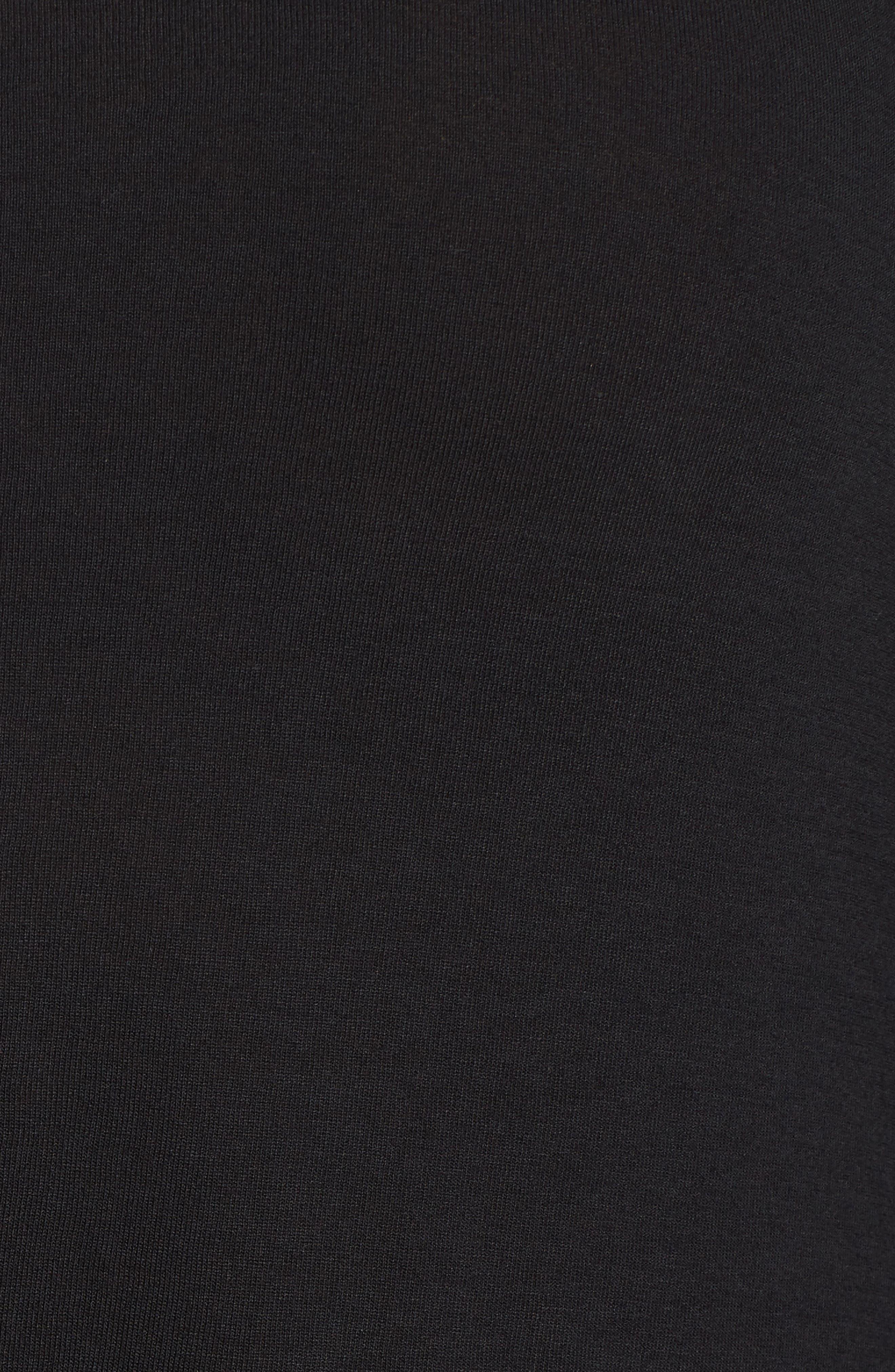 Sleeveless High/Low Knit Maxi Dress,                             Alternate thumbnail 6, color,                             001