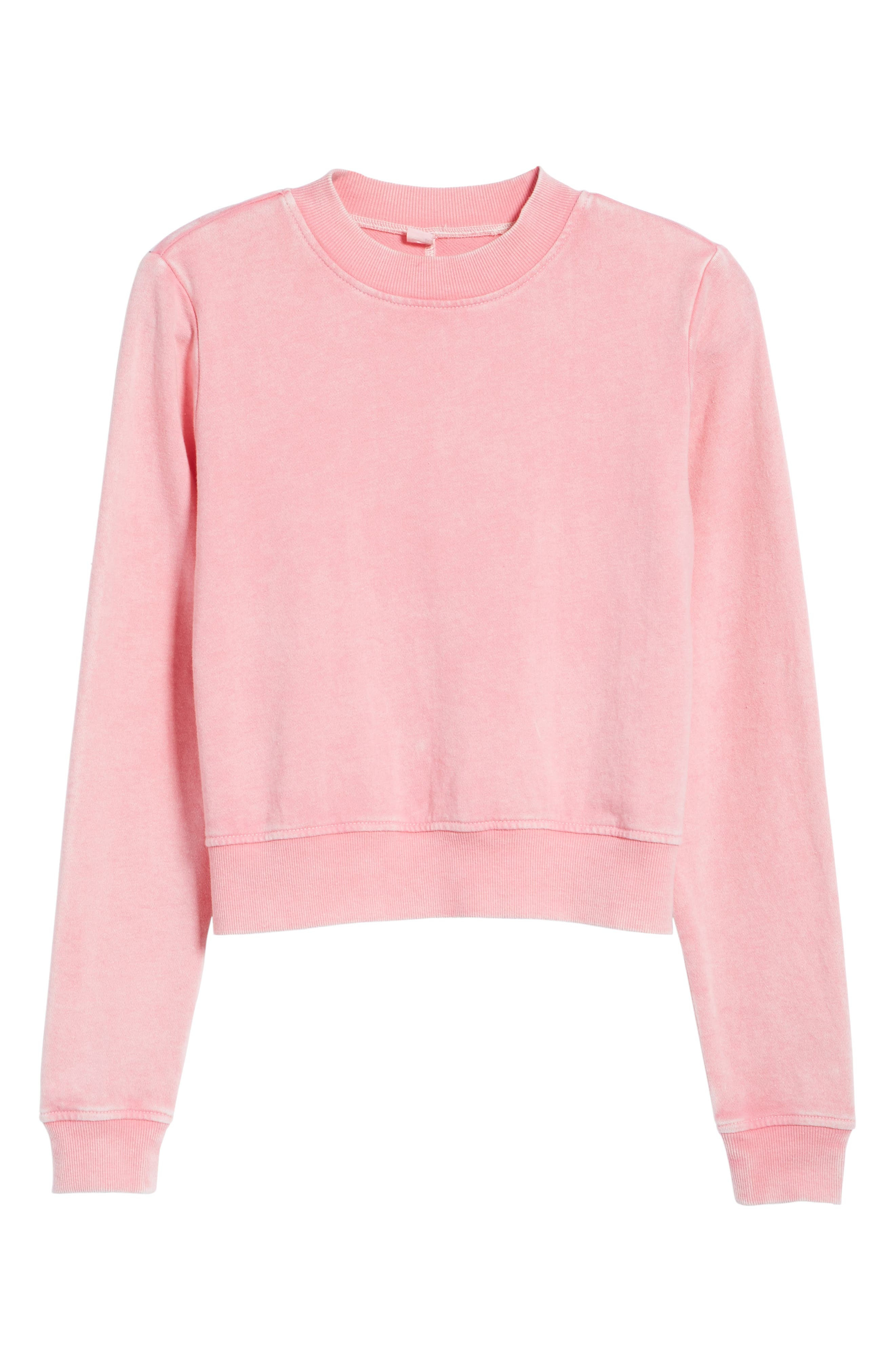 Washed Crop Sweatshirt,                             Alternate thumbnail 6, color,                             670