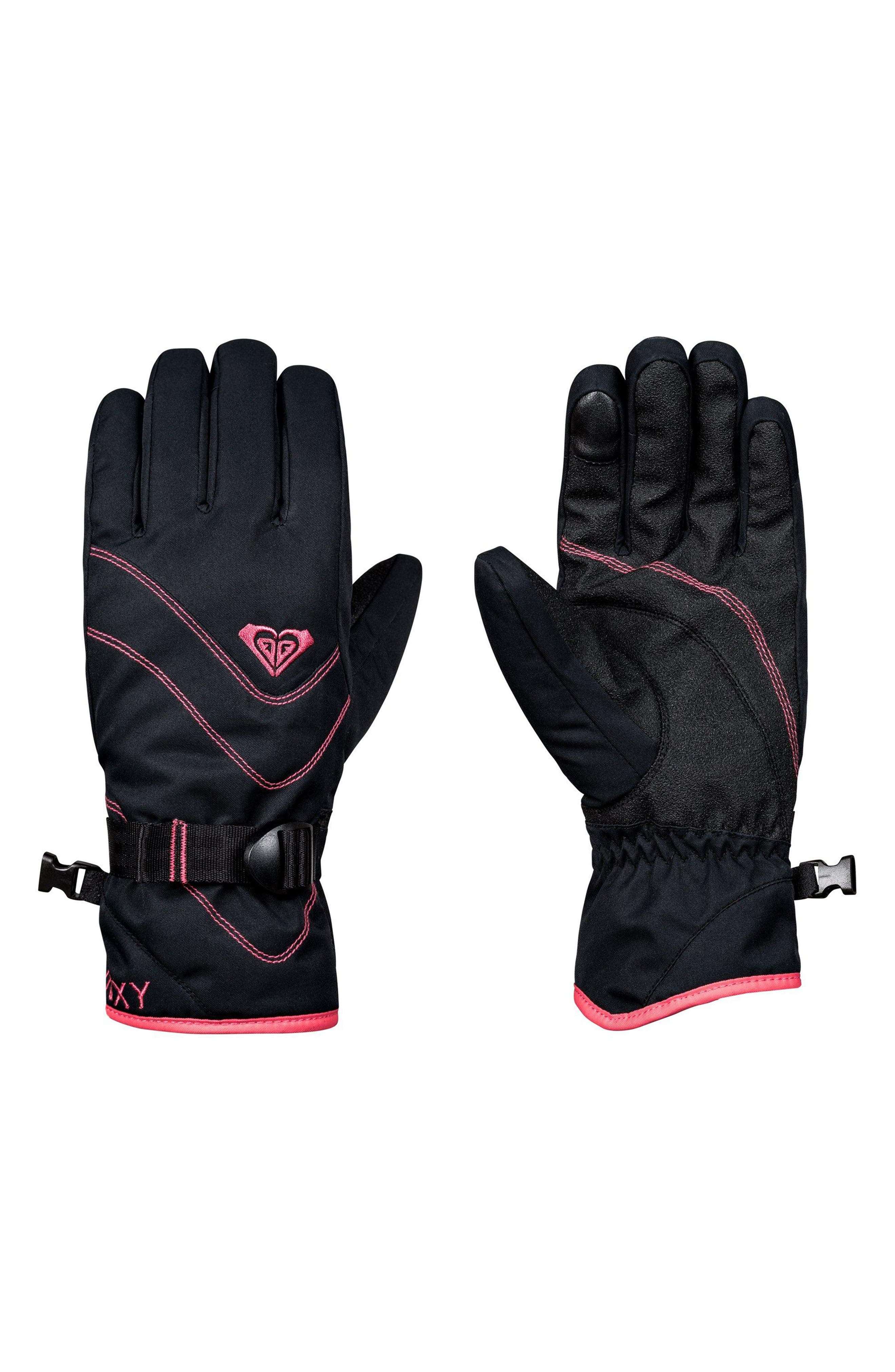 Jetty Solid Snow Sport Gloves,                             Main thumbnail 1, color,                             TRUE BLACK