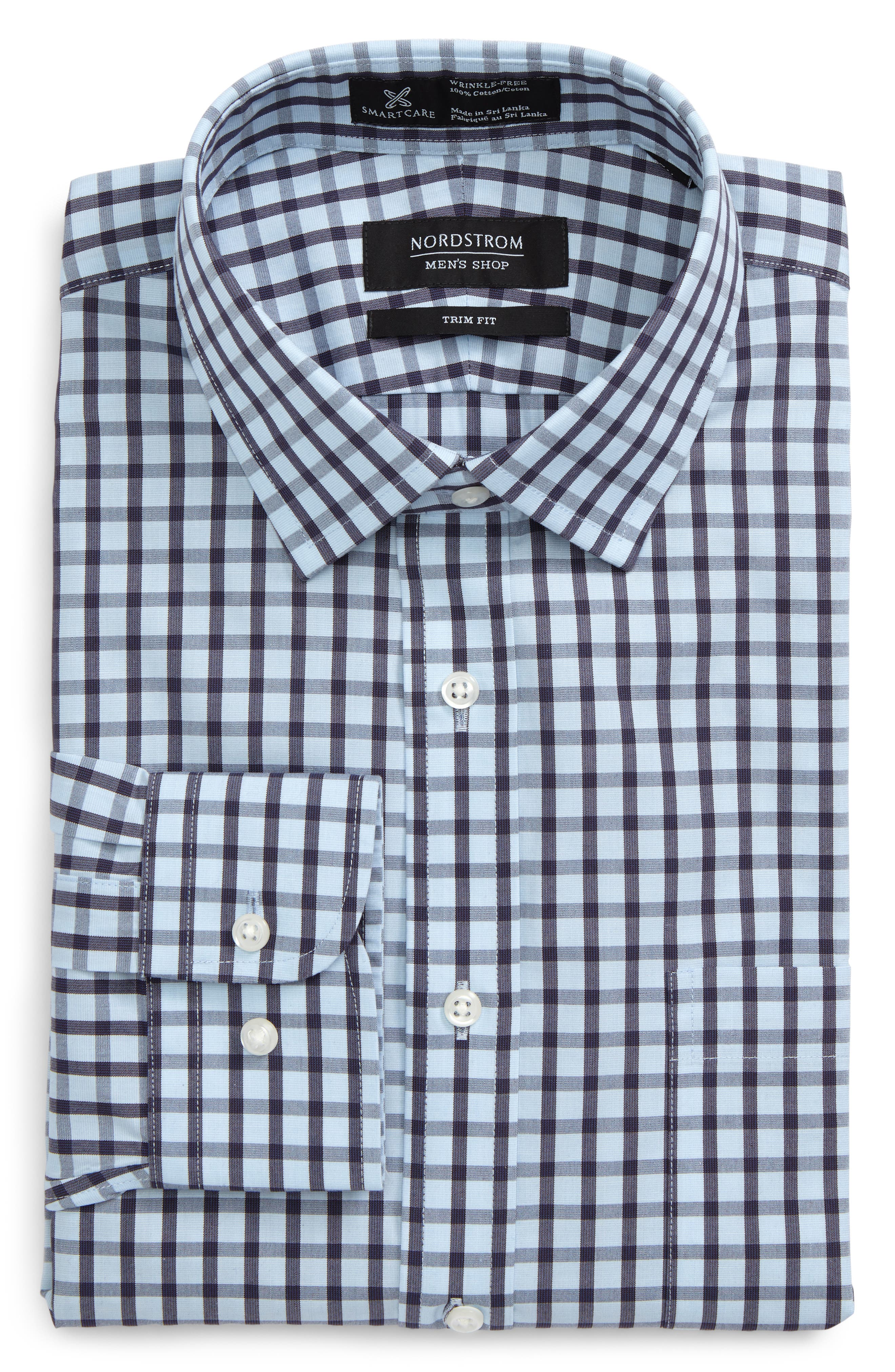 Smartcare<sup>™</sup> Trim Fit Dress Shirt,                         Main,                         color, 210