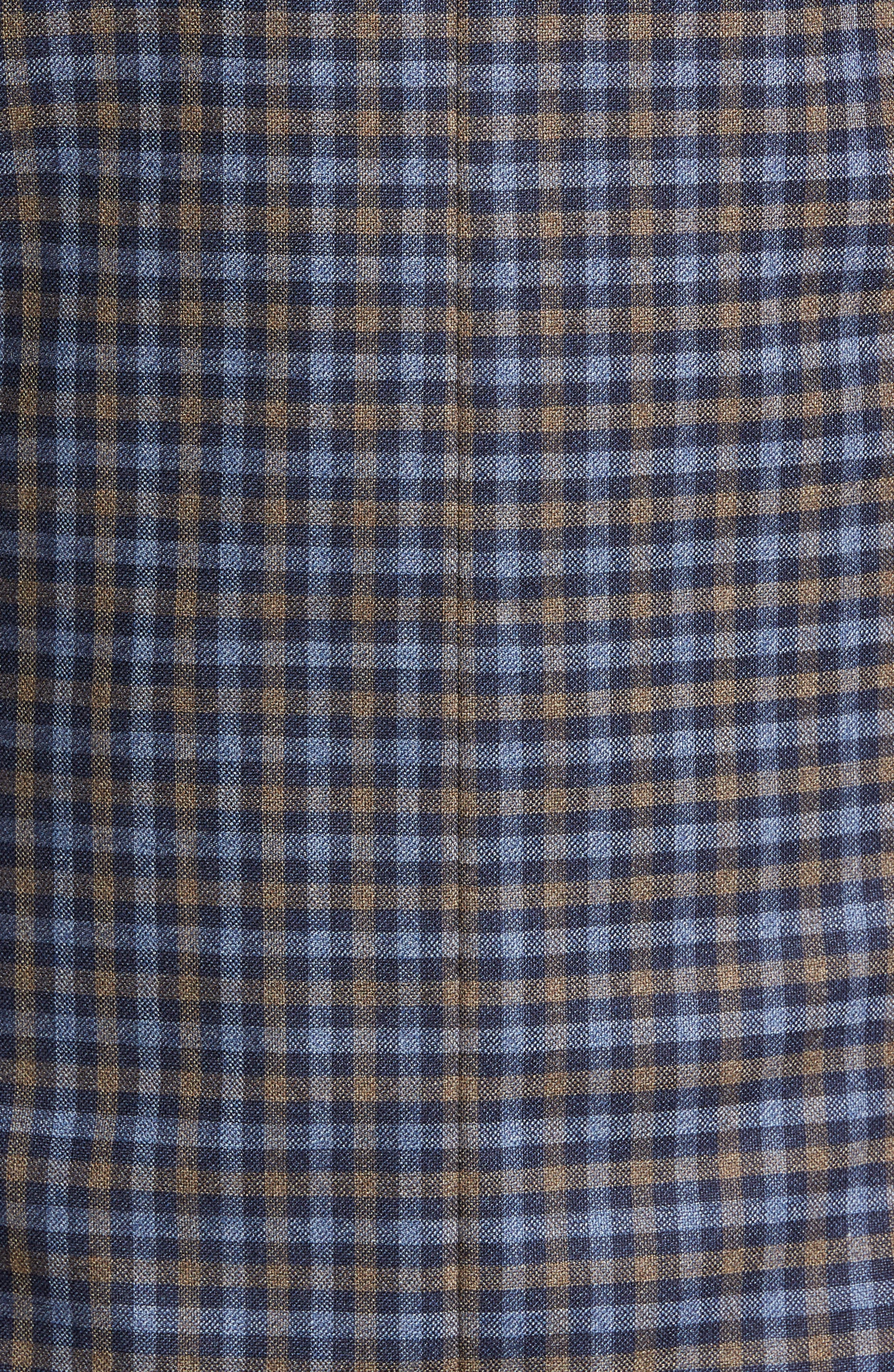 Classic Fit Check Wool Sport Coat,                             Alternate thumbnail 6, color,                             BLUE