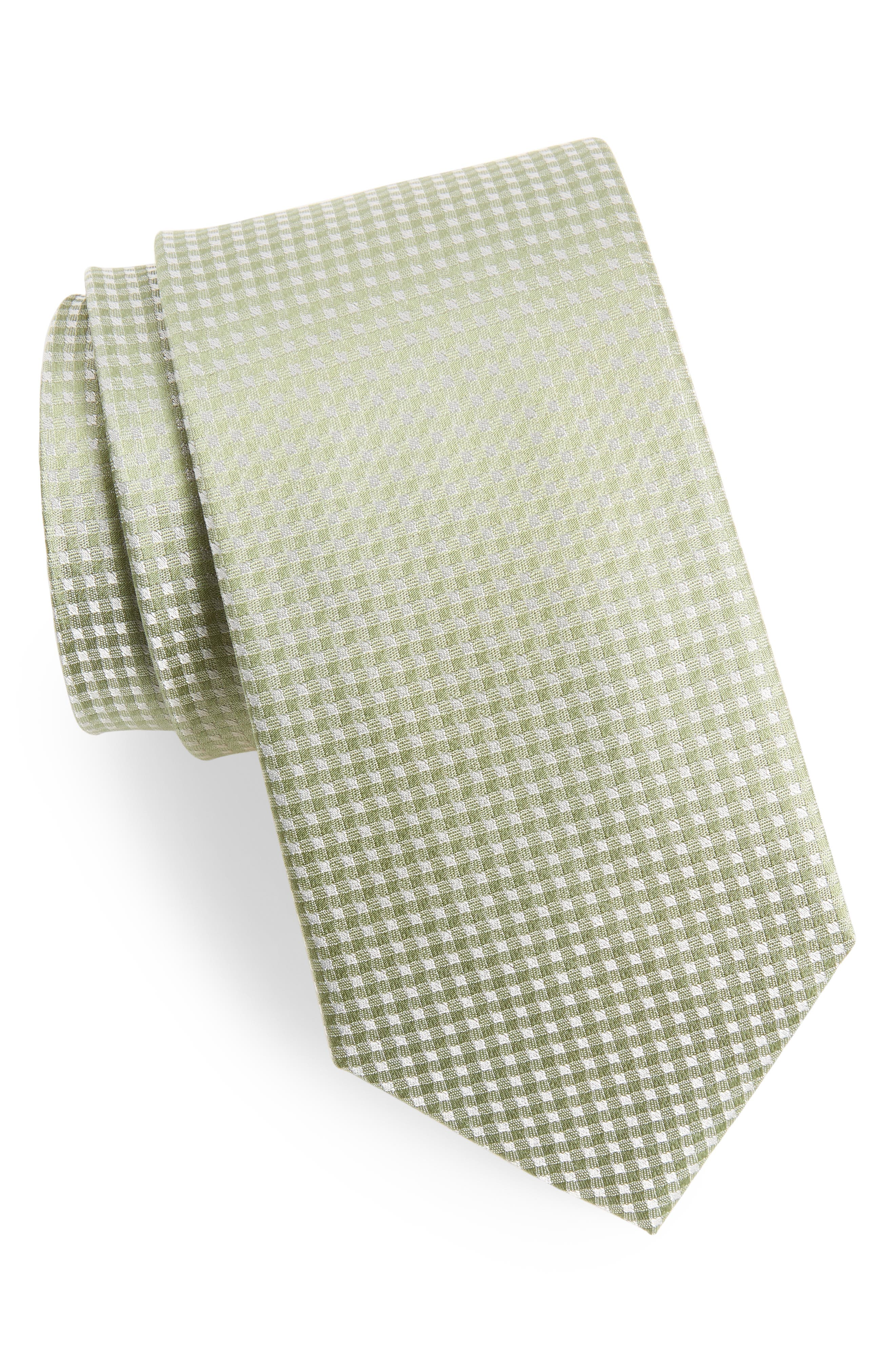 Be Married Check Silk Tie,                             Main thumbnail 2, color,
