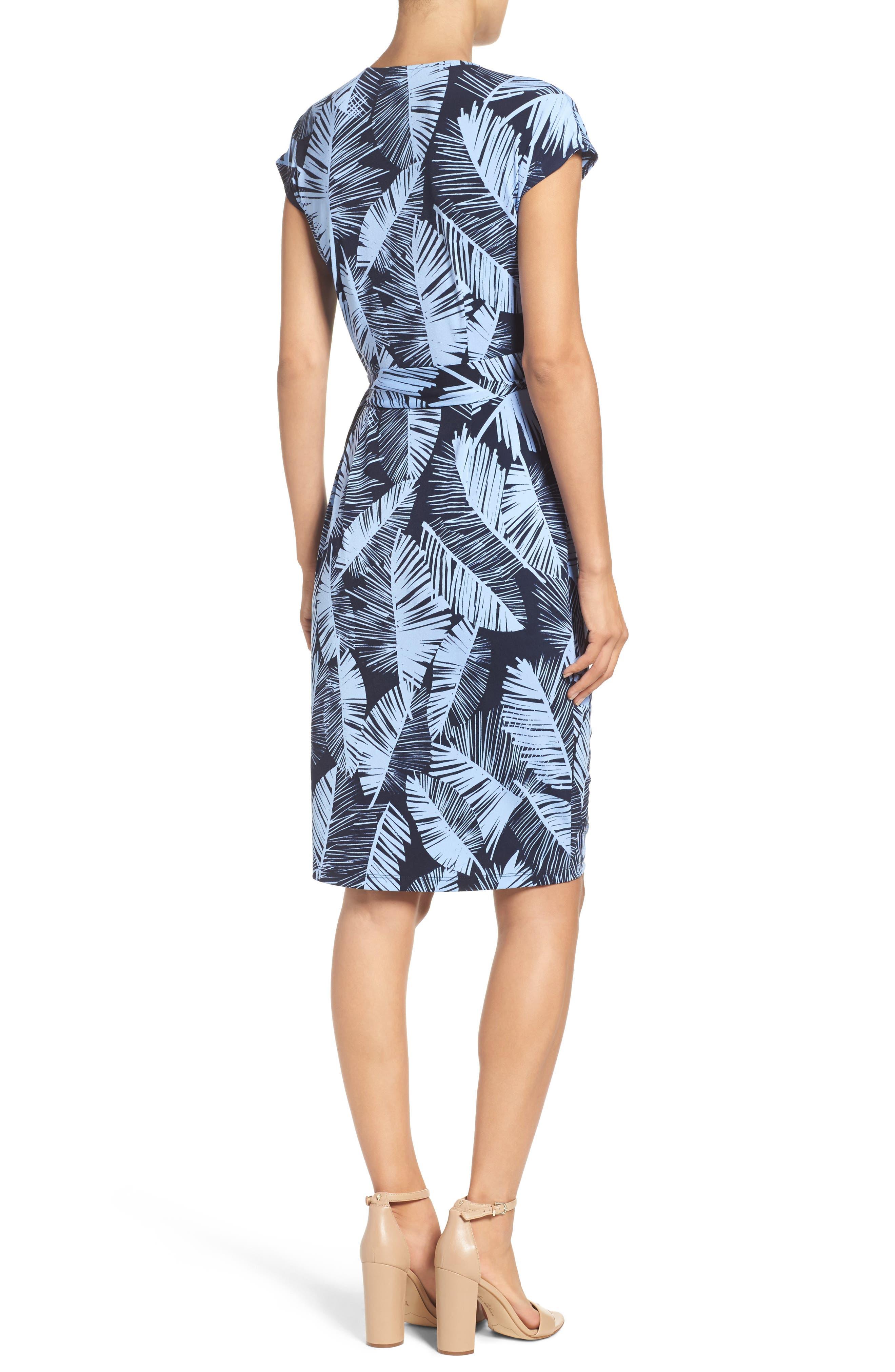 Palm Leaf Wrap Dress,                             Alternate thumbnail 2, color,                             420