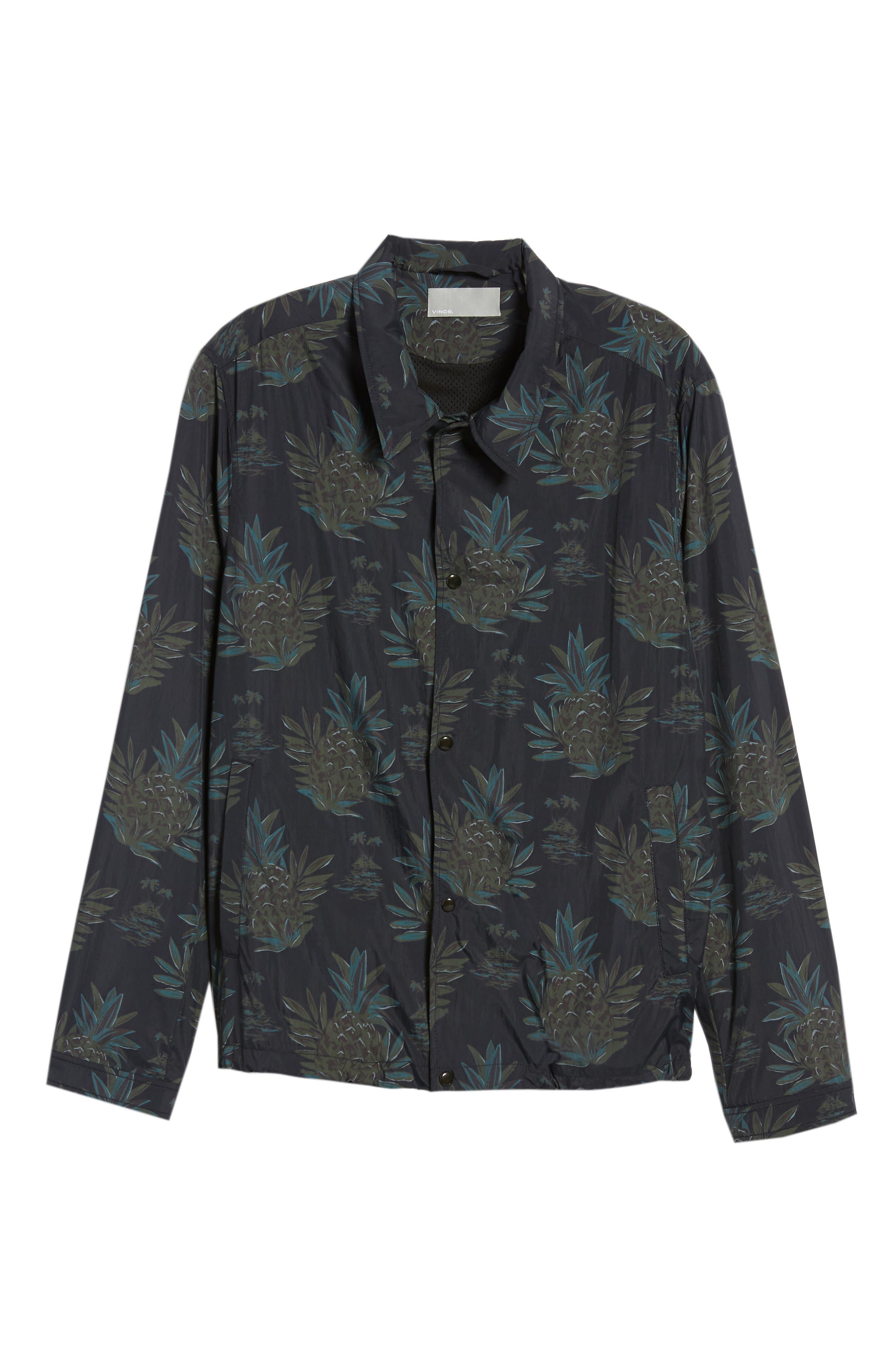 VINCE,                             Tropical Regular Fit Coach's Jacket,                             Alternate thumbnail 5, color,                             463