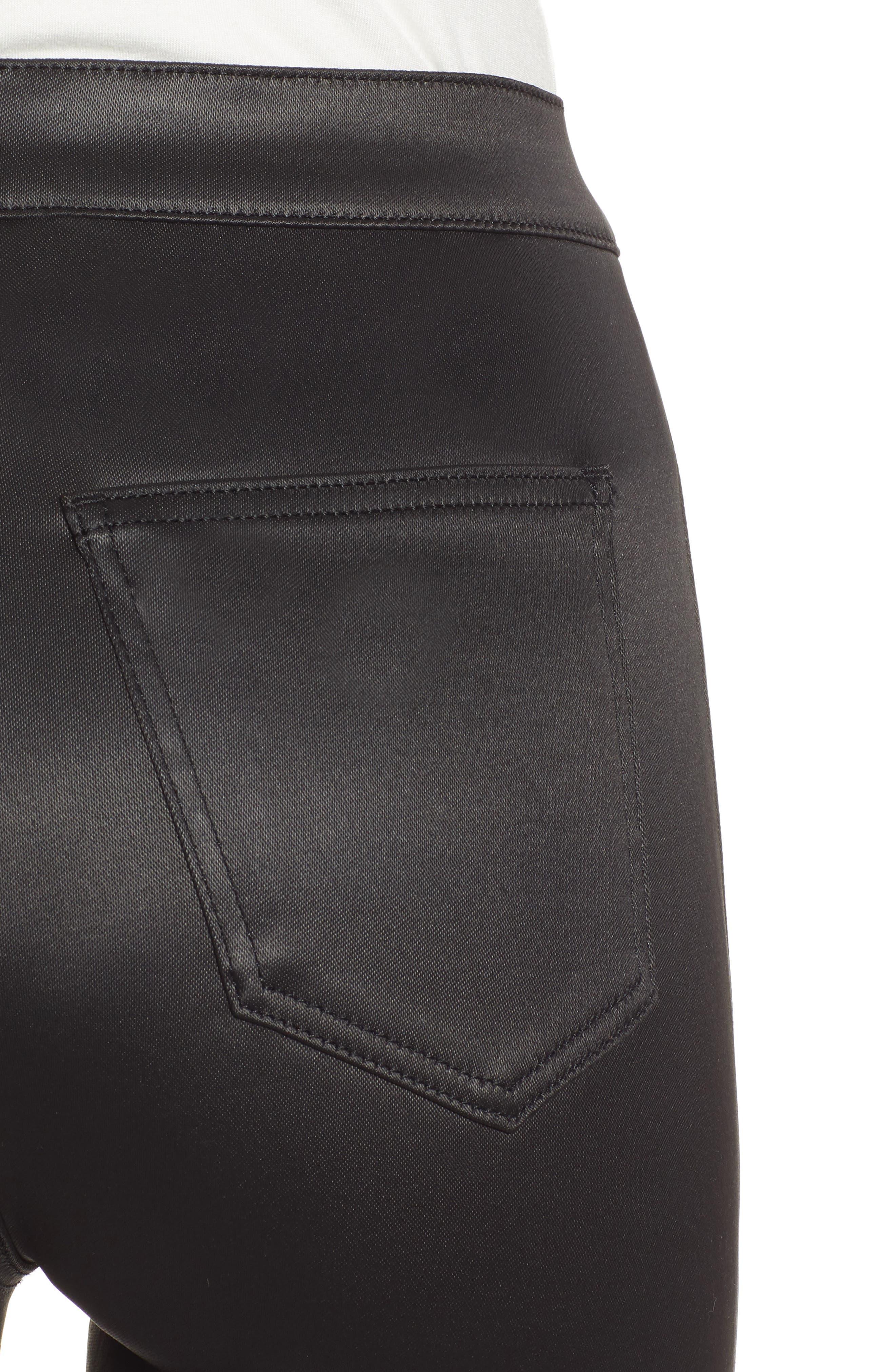 Joni Skinny Pants,                             Alternate thumbnail 4, color,                             BLACK