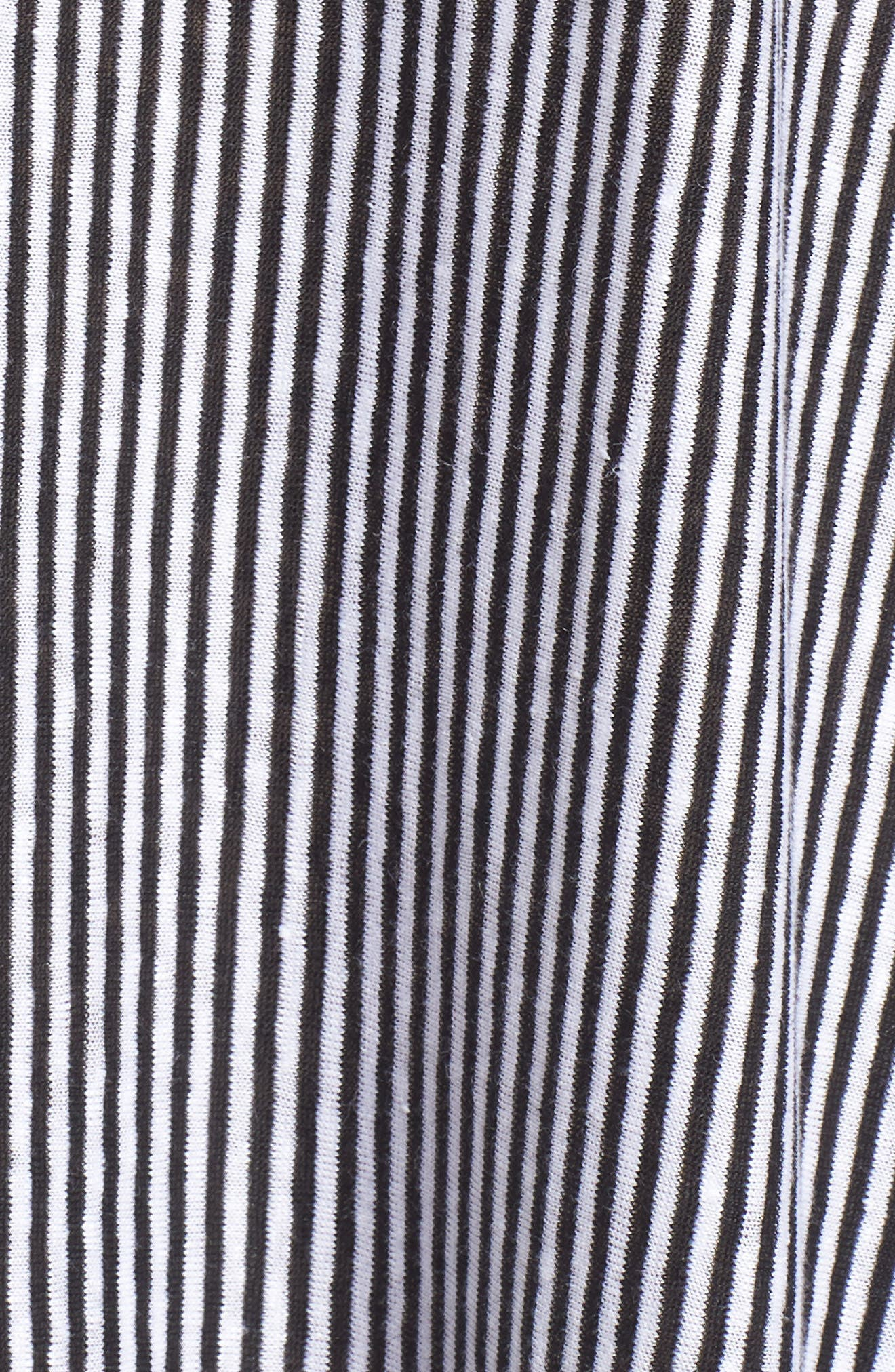 Stripe Organic Linen Jersey Shift Dress,                             Alternate thumbnail 6, color,                             018