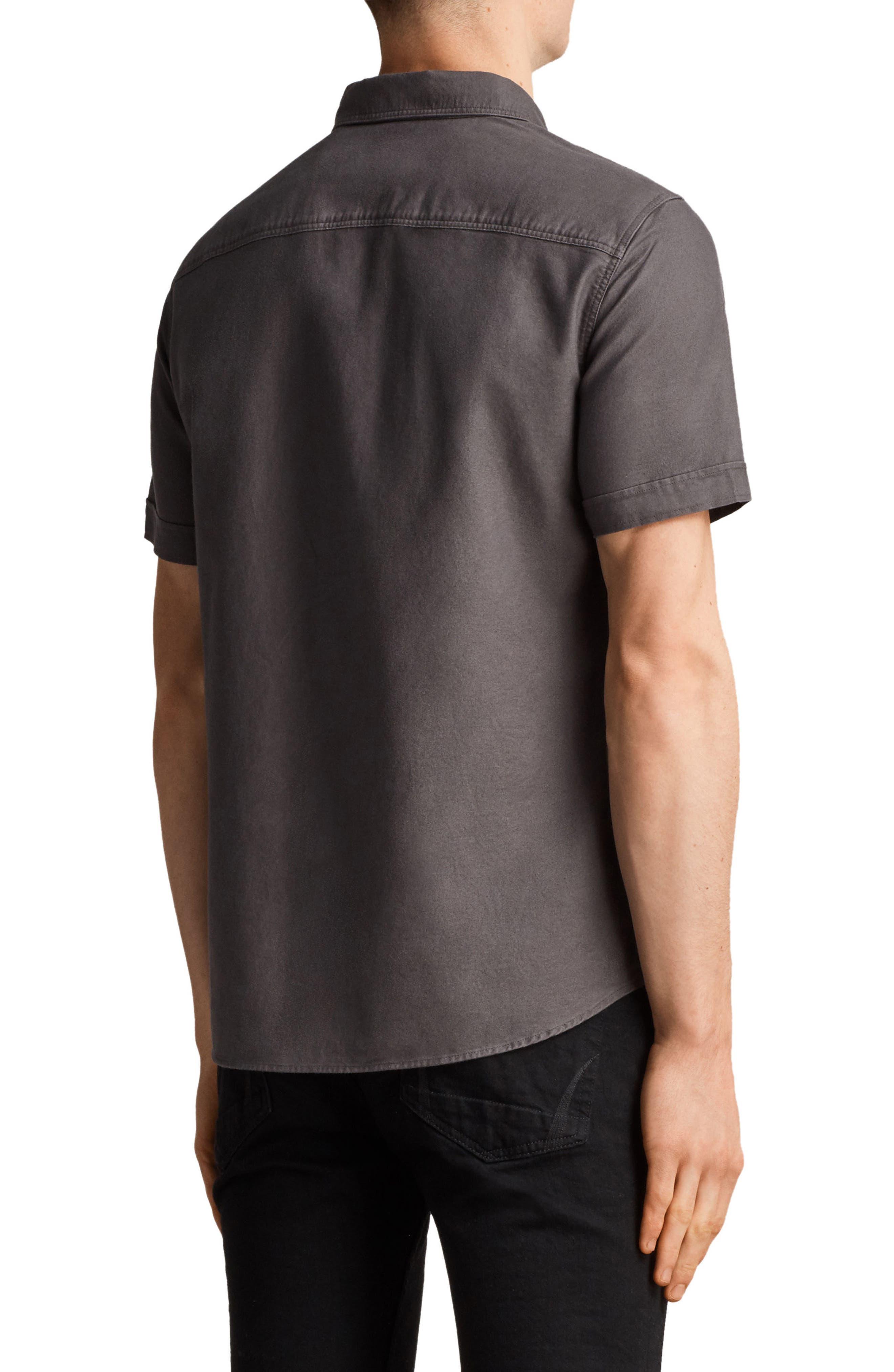 Huntington Regular Fit Short Sleeve Sport Shirt,                             Alternate thumbnail 7, color,