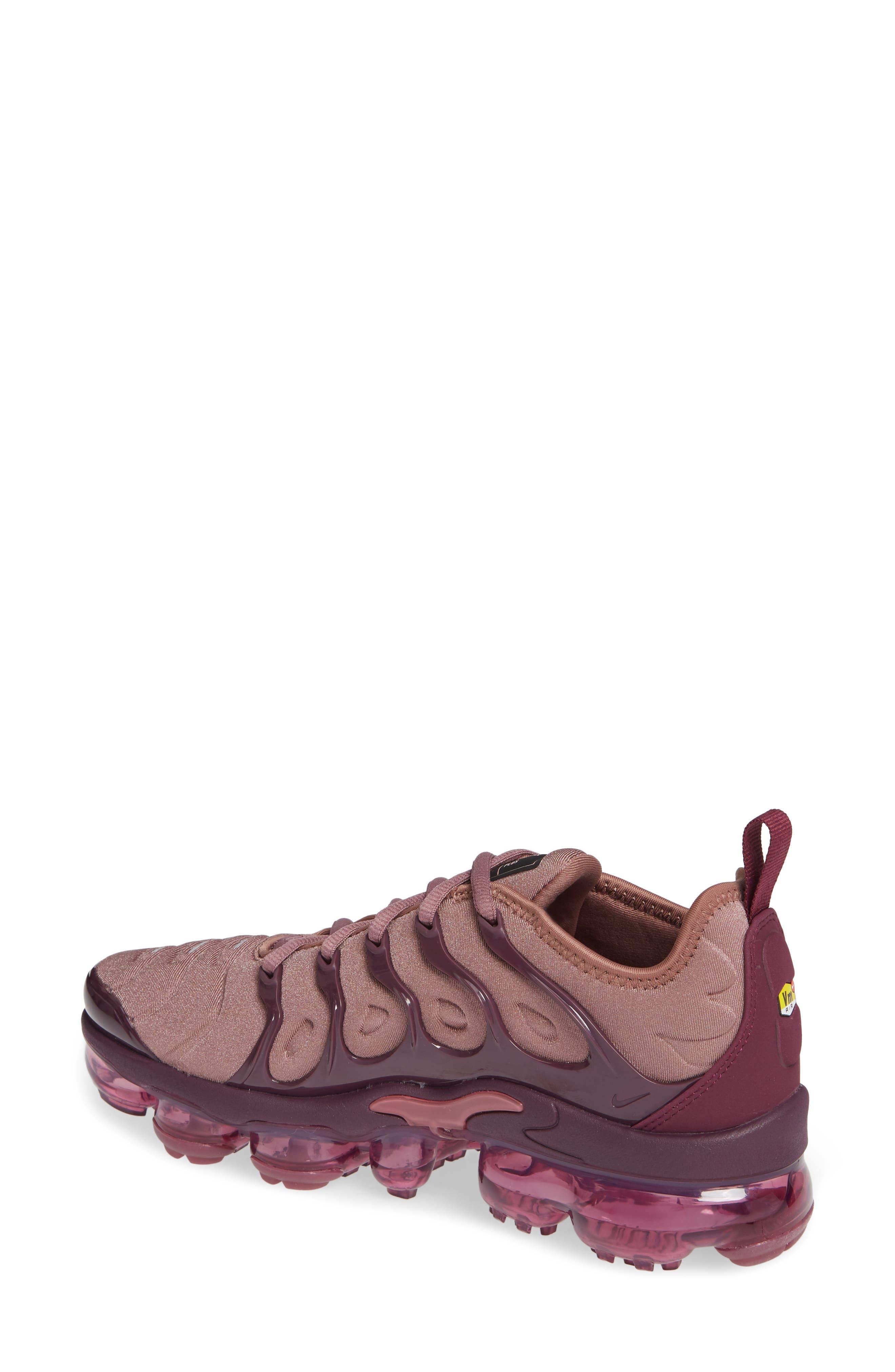 Air VaporMax Plus Sneaker,                             Alternate thumbnail 2, color,                             MAUVE/ BORDEAUX/ WINE/ BLACK
