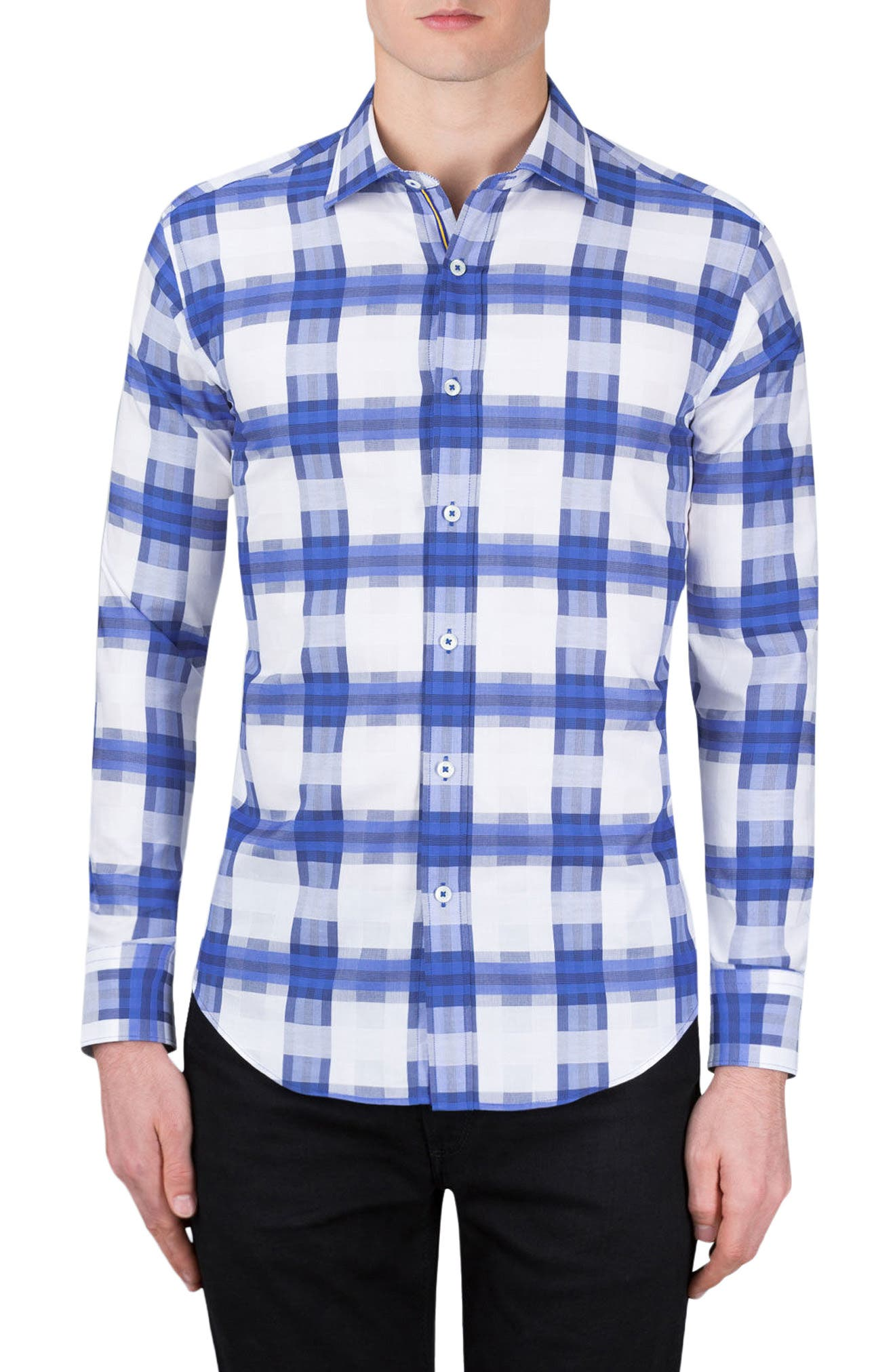 Classic Fit Check Sport Shirt,                             Main thumbnail 1, color,                             422