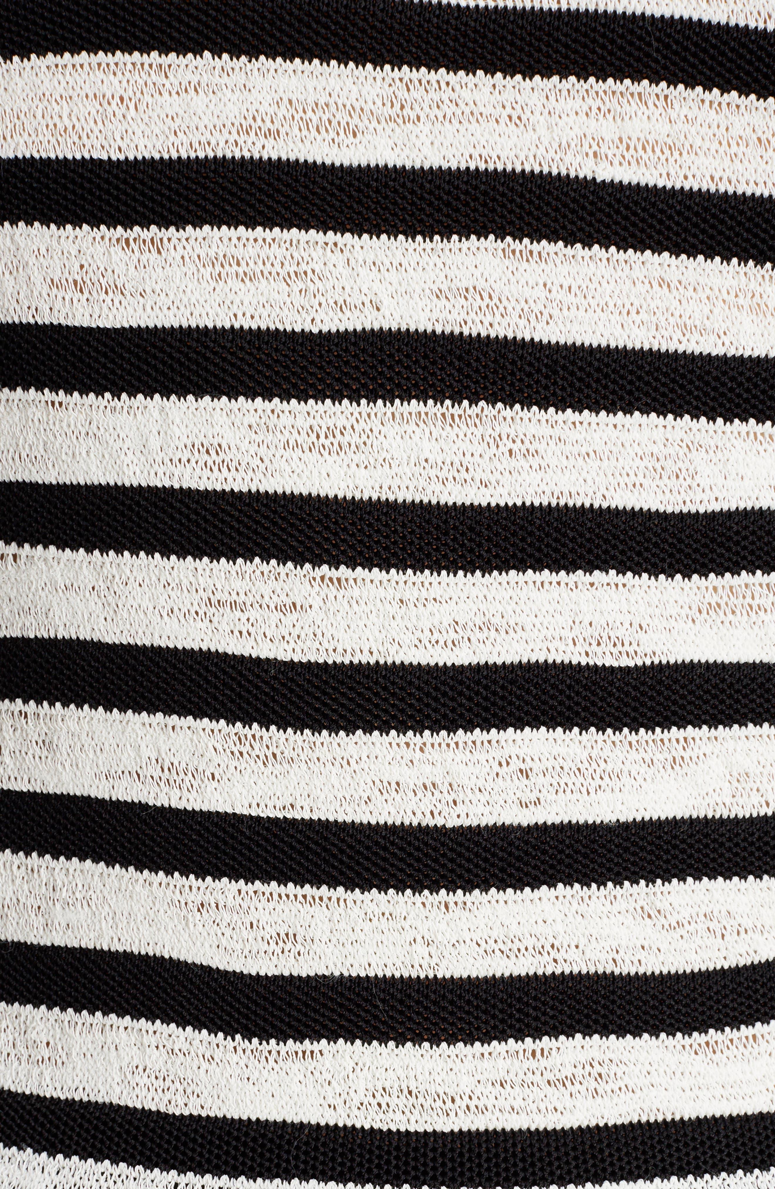 Marine Stripe Knit Sweater,                             Alternate thumbnail 5, color,                             002