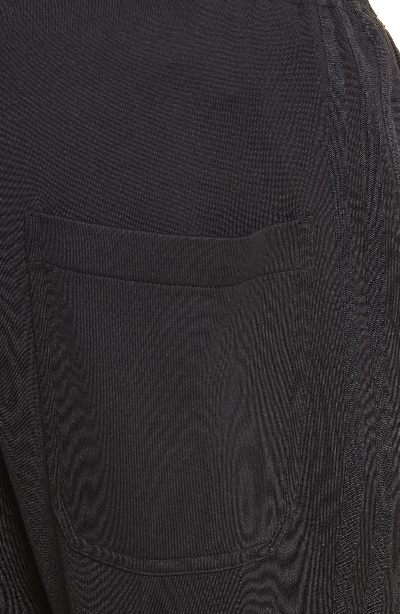 x adidas Wide Leg Track Pants,                             Alternate thumbnail 5, color,                             001