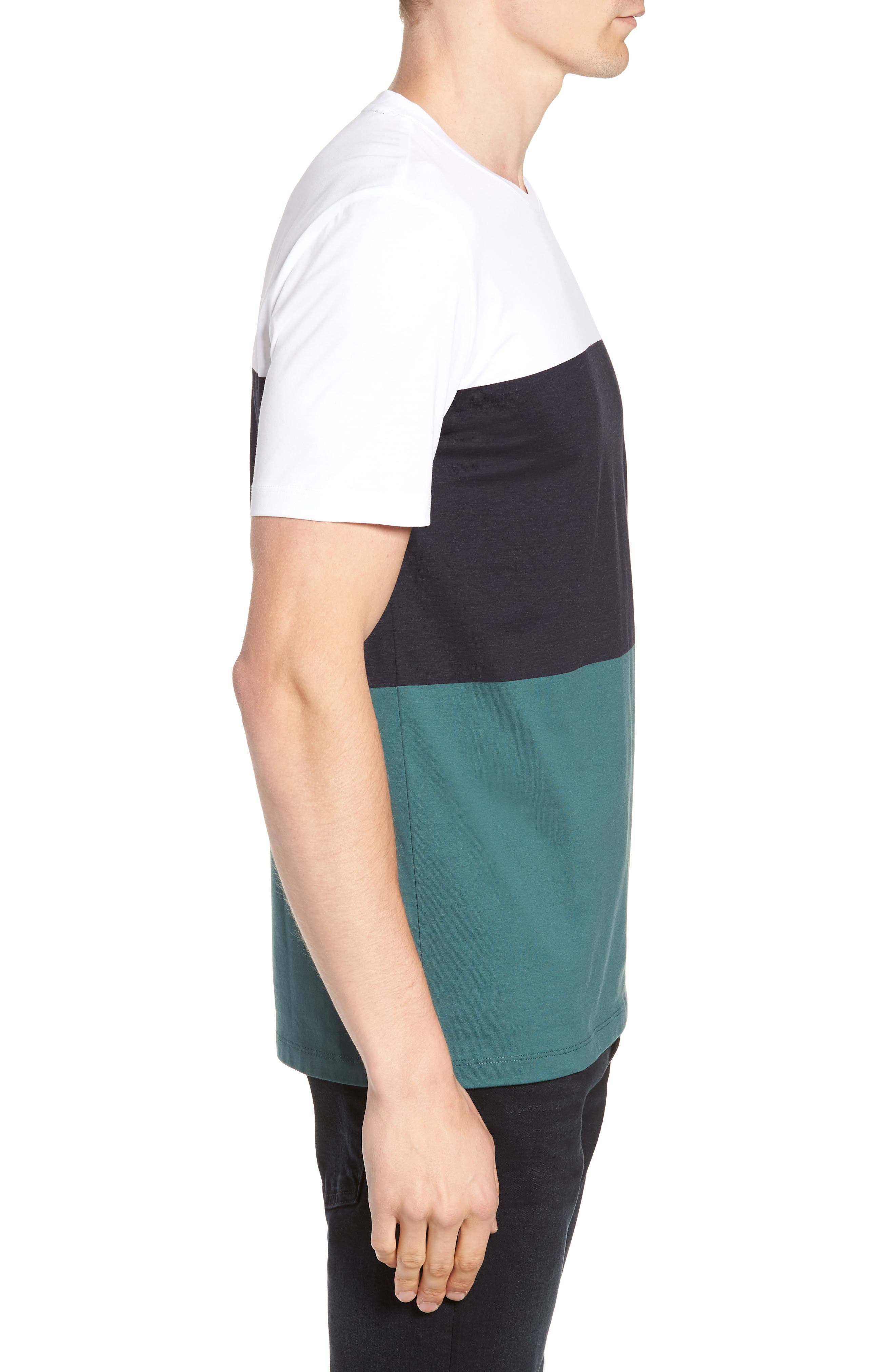 Tessler Colorblock Slim Fit T-Shirt,                             Alternate thumbnail 3, color,                             BLUE