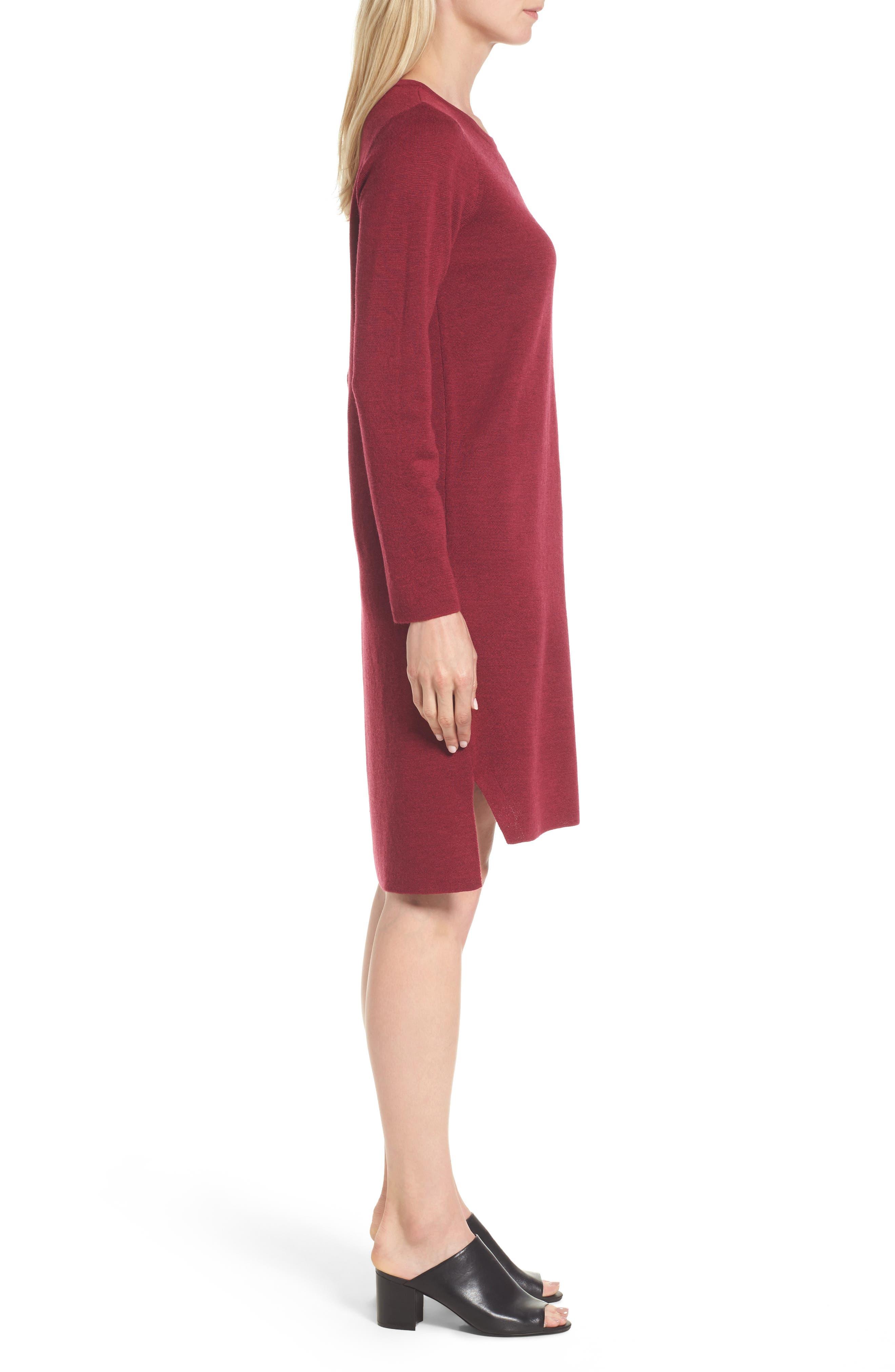Merino Wool Sweater Dress,                             Alternate thumbnail 12, color,