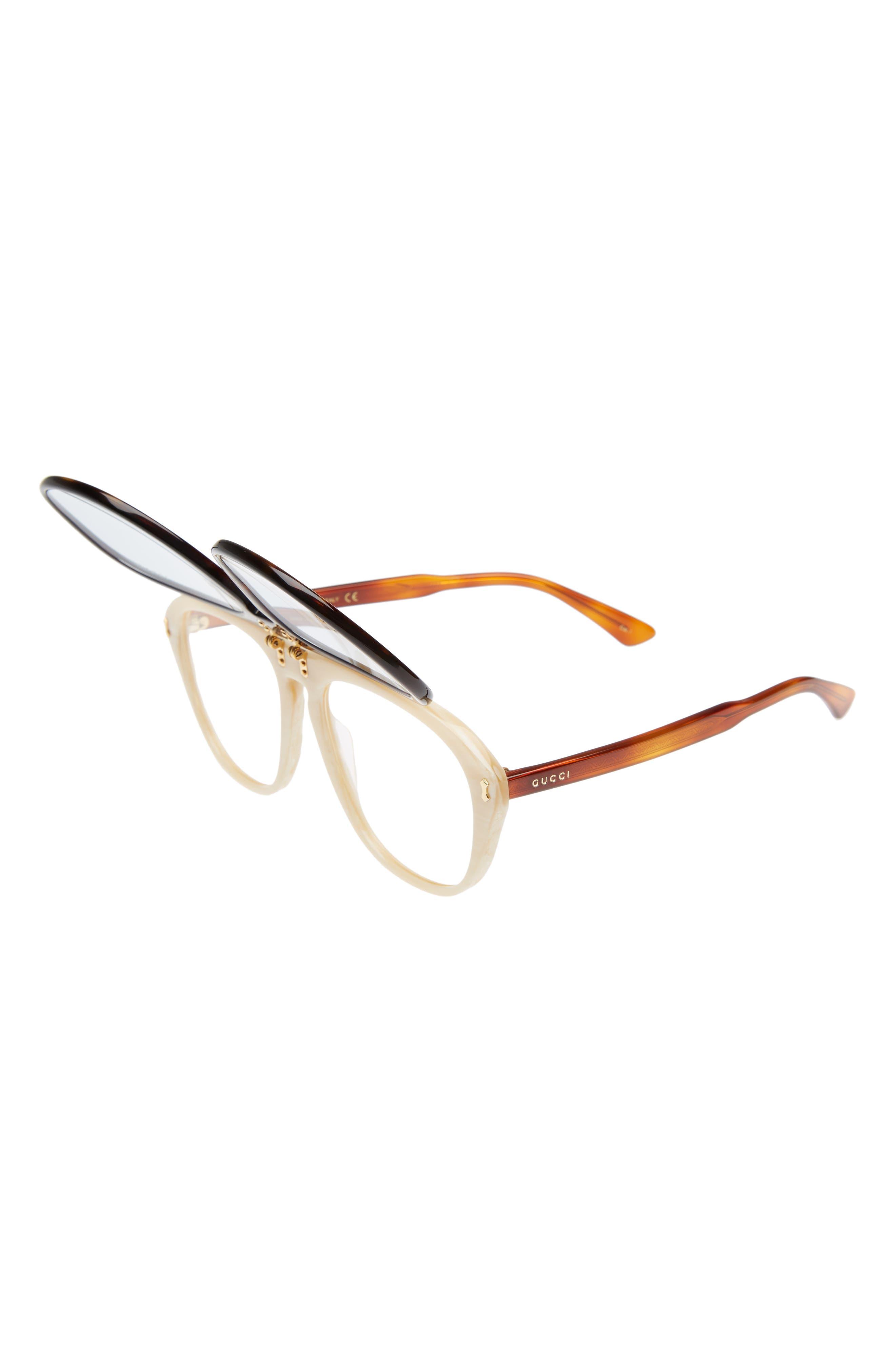 56mm Flip-Up Sunglasses,                             Alternate thumbnail 3, color,                             200