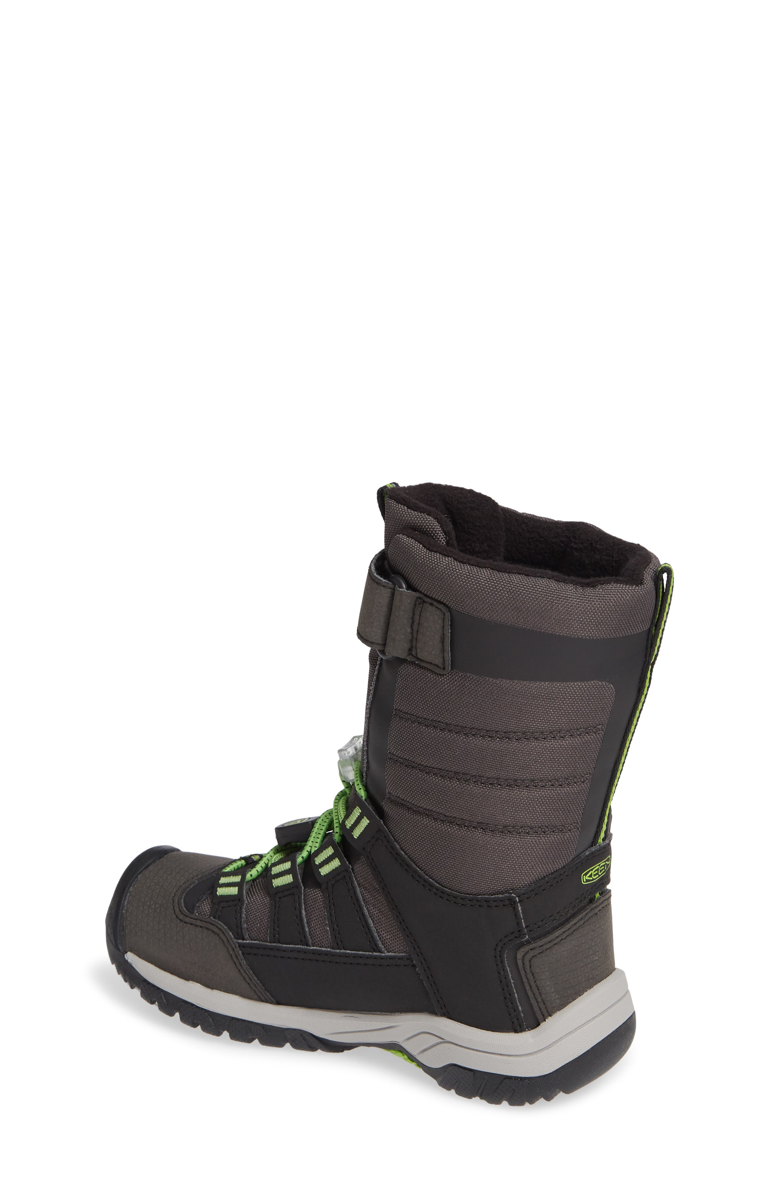 Winterport Neo Waterproof Insulated Boot,                             Alternate thumbnail 2, color,                             BLACK/ GREENERY