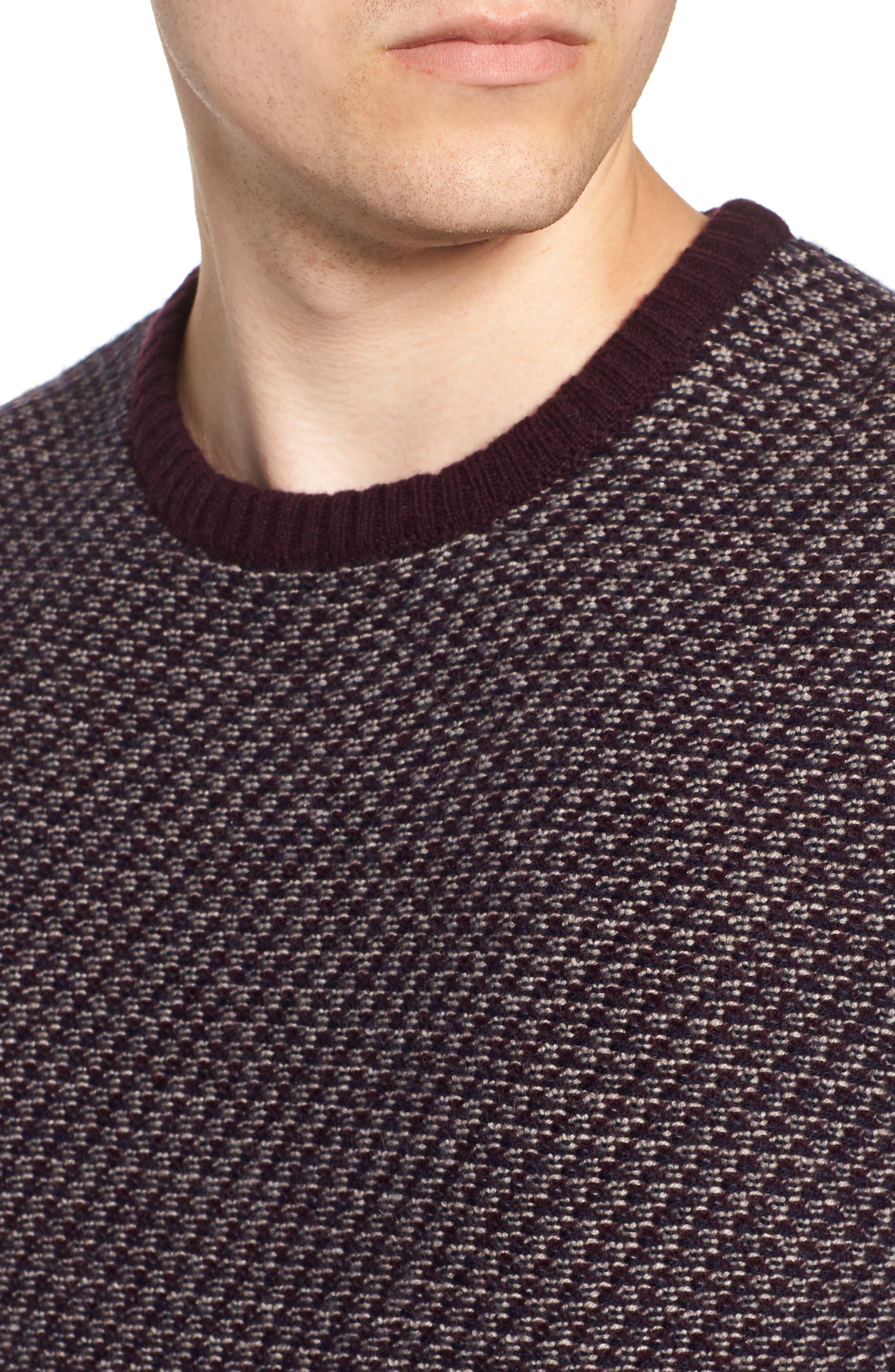 Jacquard Wool & Cashmere Sweater,                             Alternate thumbnail 4, color,                             938