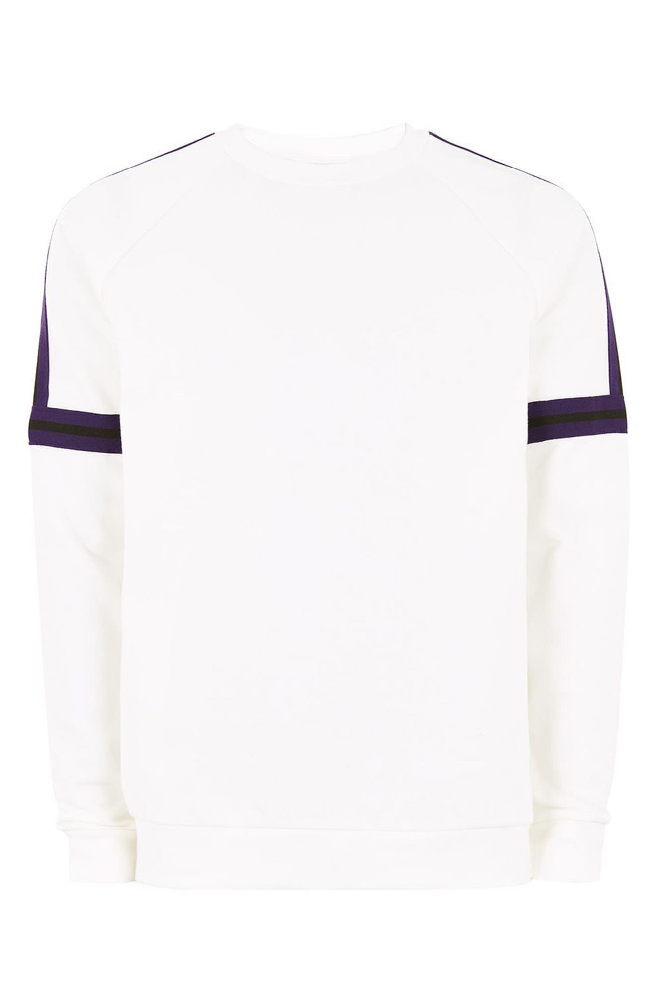 Tape Crewneck Sweatshirt,                             Alternate thumbnail 8, color,