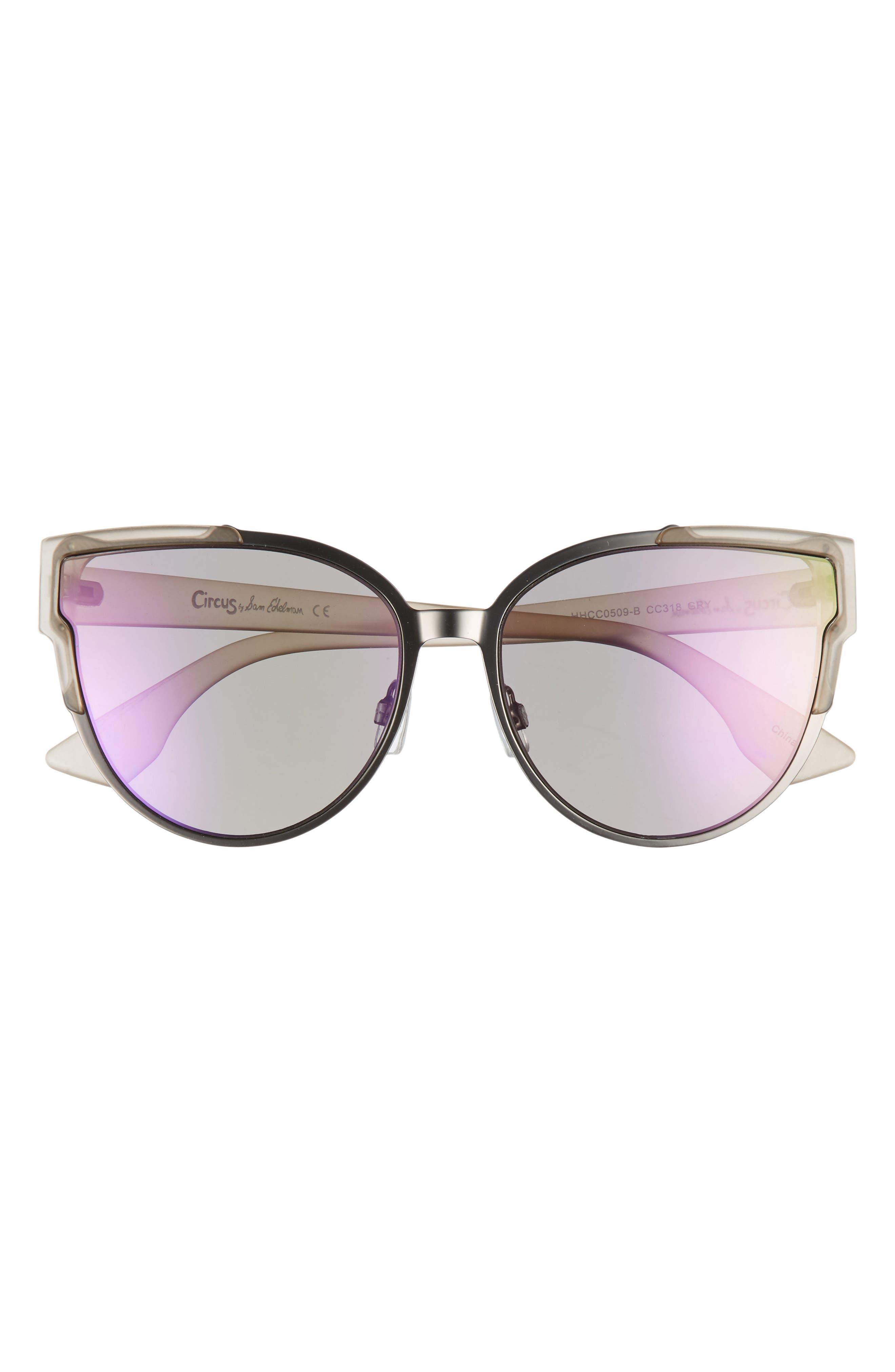 56mm Combo Cat Eye Sunglasses,                             Alternate thumbnail 9, color,