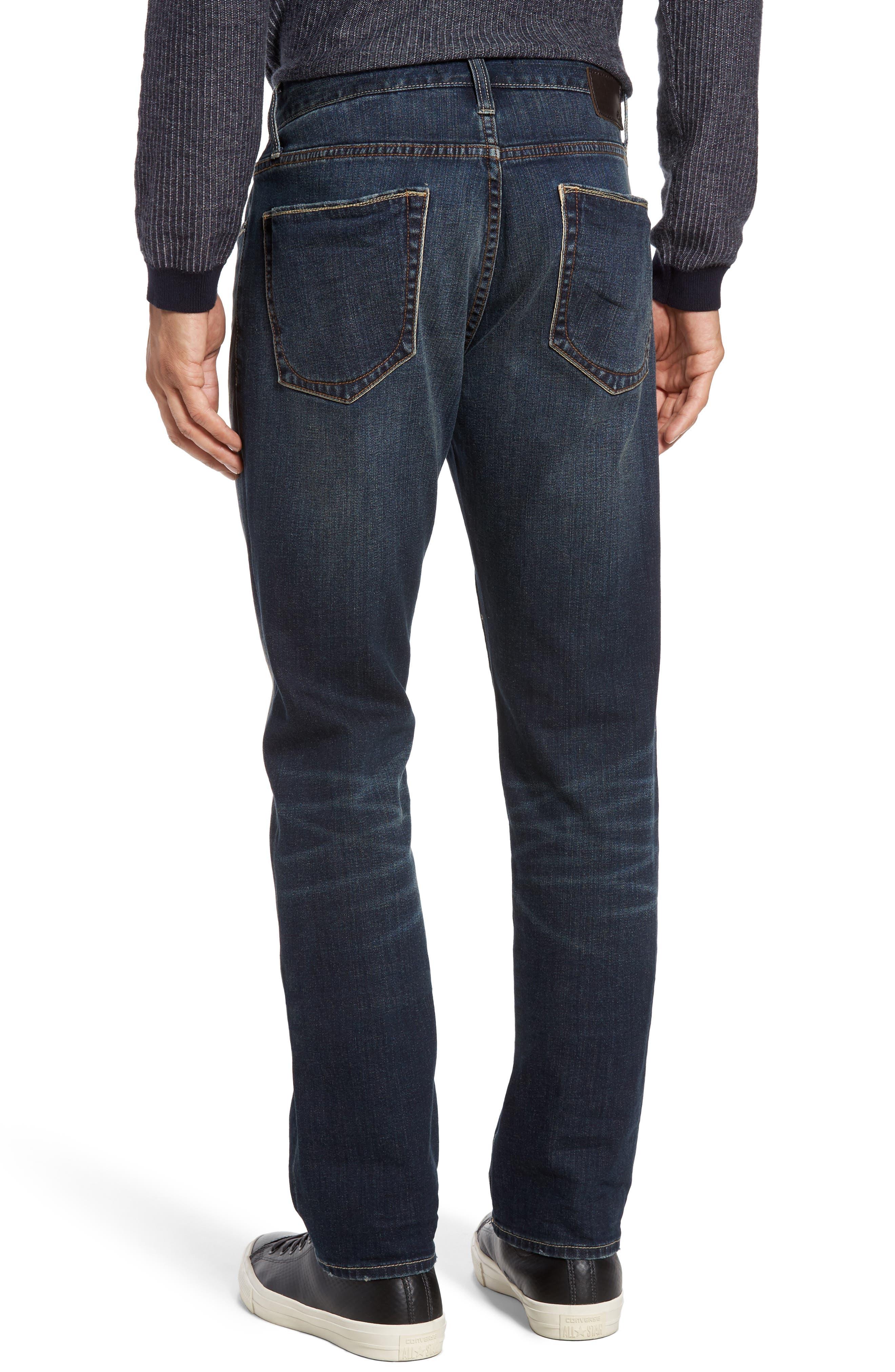 Bowery Slim Straight Leg Jeans,                             Alternate thumbnail 4, color,