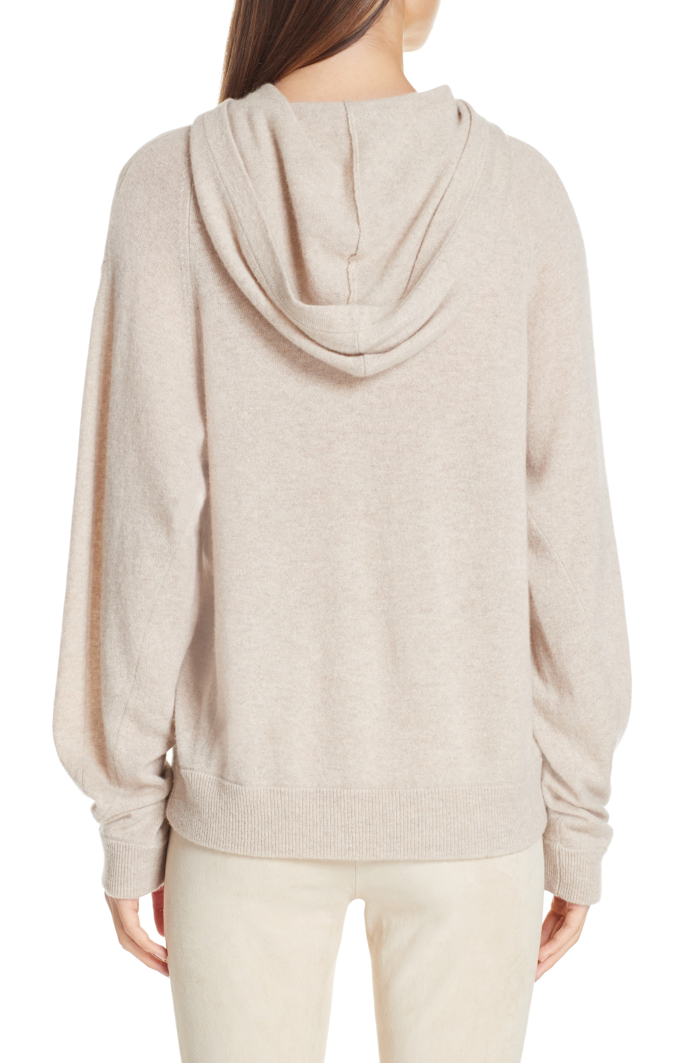 Overlap Cashmere Hoodie,                             Alternate thumbnail 2, color,                             255