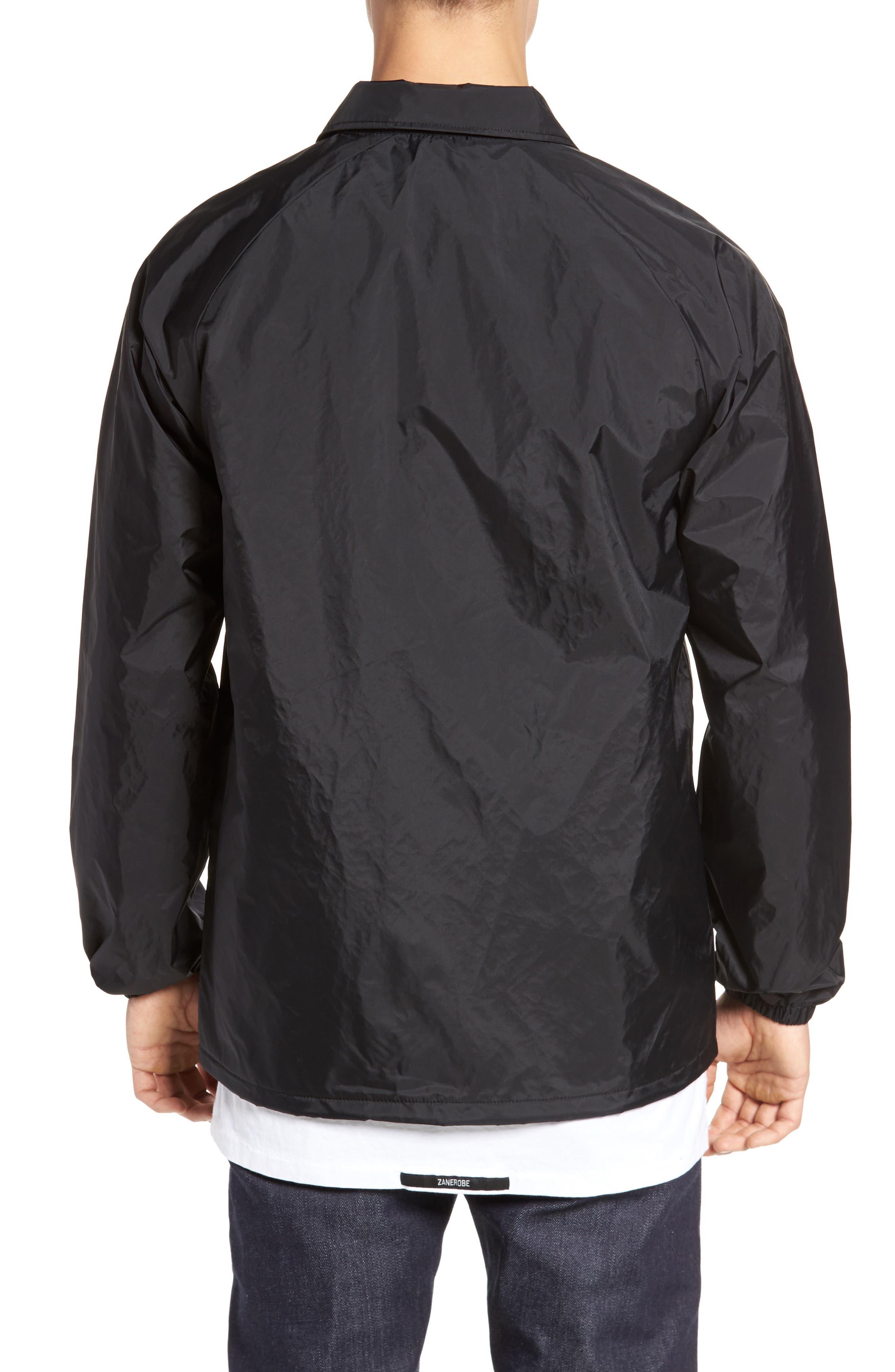 Torrey Water Resistant Jacket,                             Alternate thumbnail 2, color,                             BLACK/ WHITE