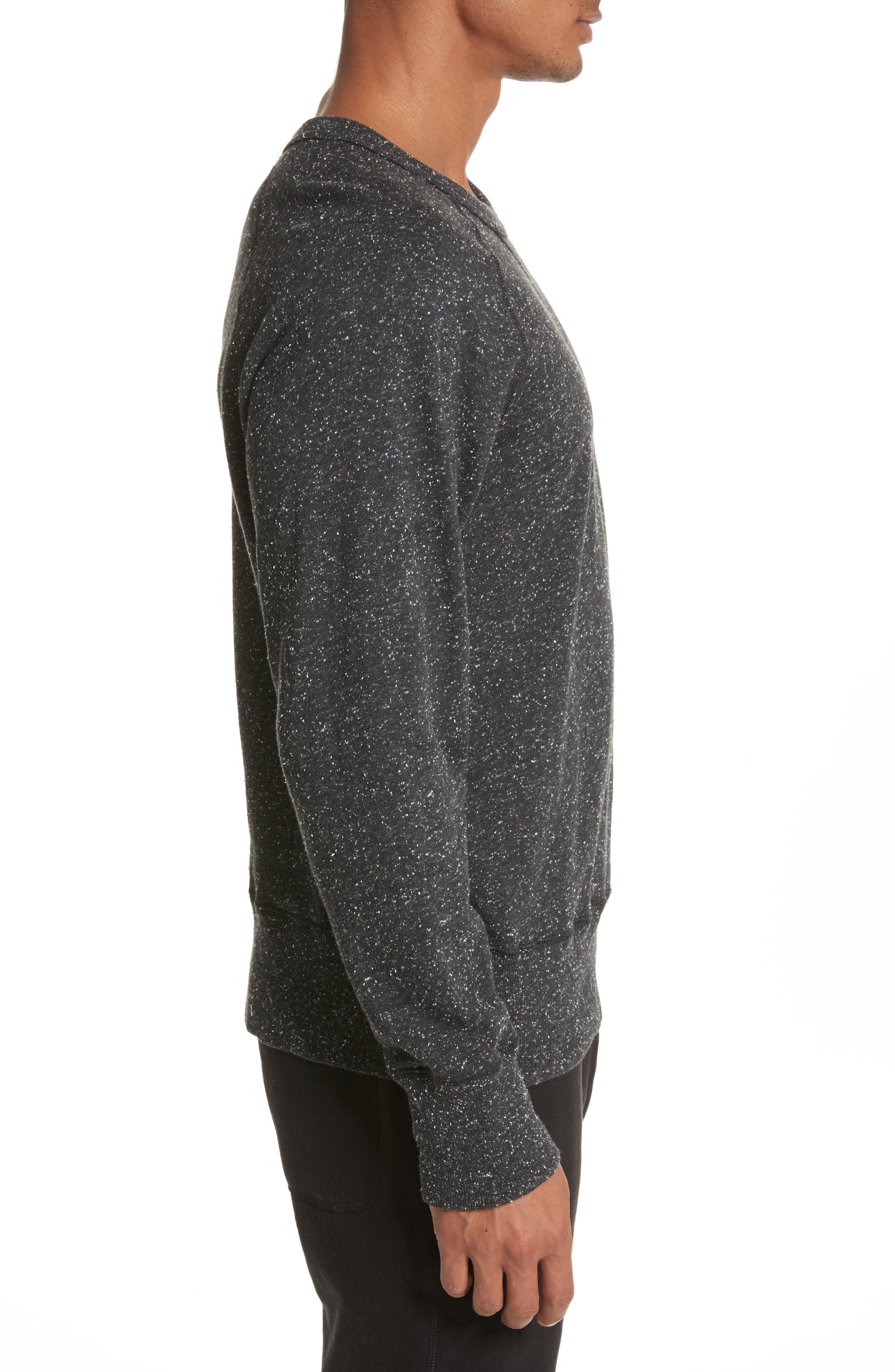 + Champion Heathered Crewneck Sweatshirt,                             Alternate thumbnail 3, color,