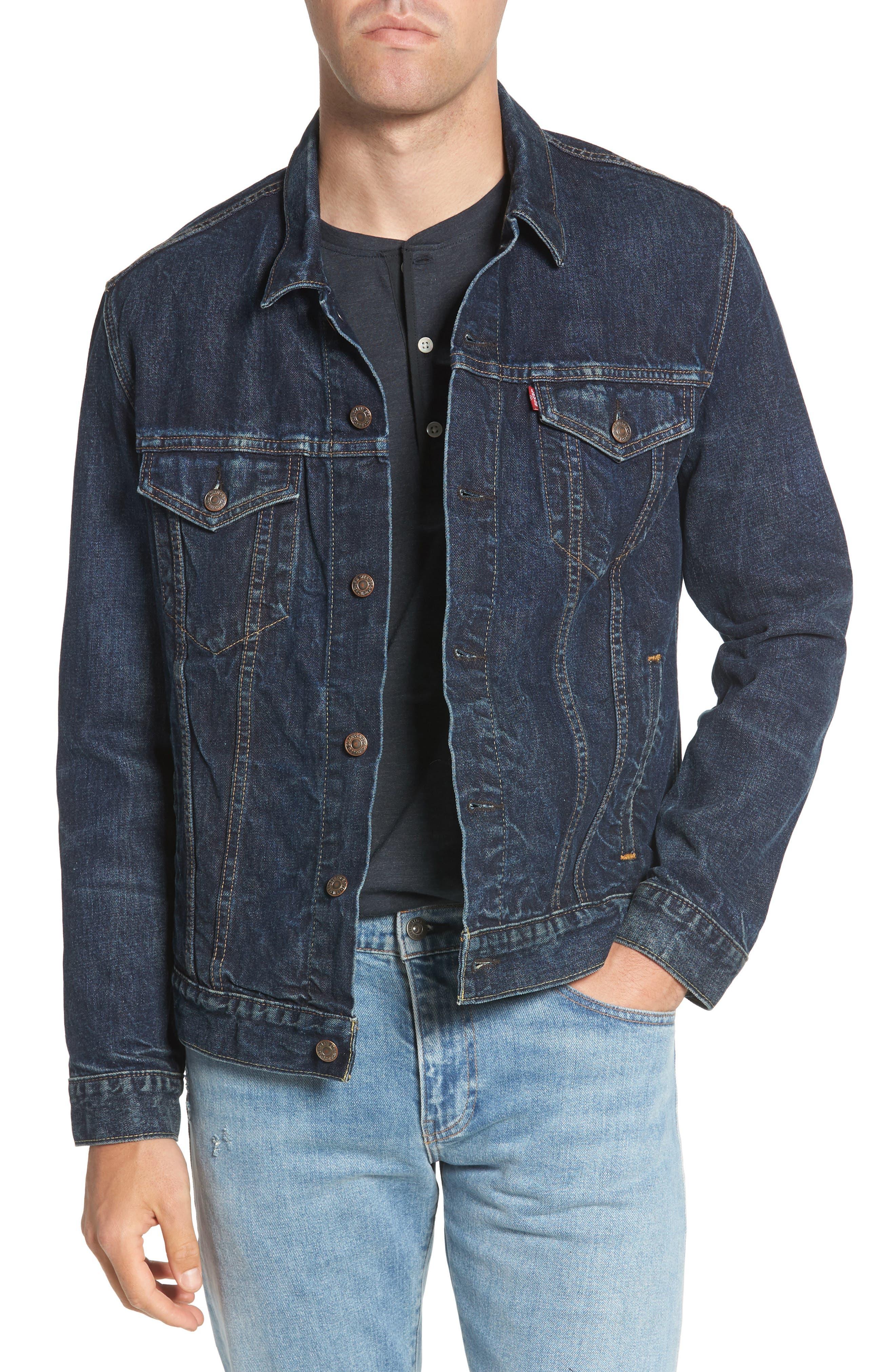 Trucker Denim Jacket,                             Main thumbnail 1, color,                             420