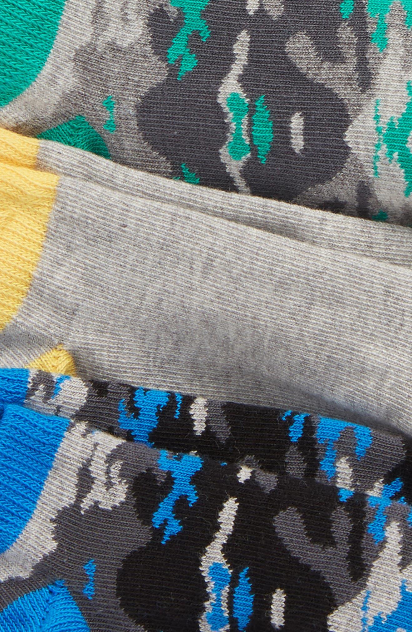 6-Pack Low Cut Socks,                             Alternate thumbnail 2, color,                             BLACK RAVEN MULTI