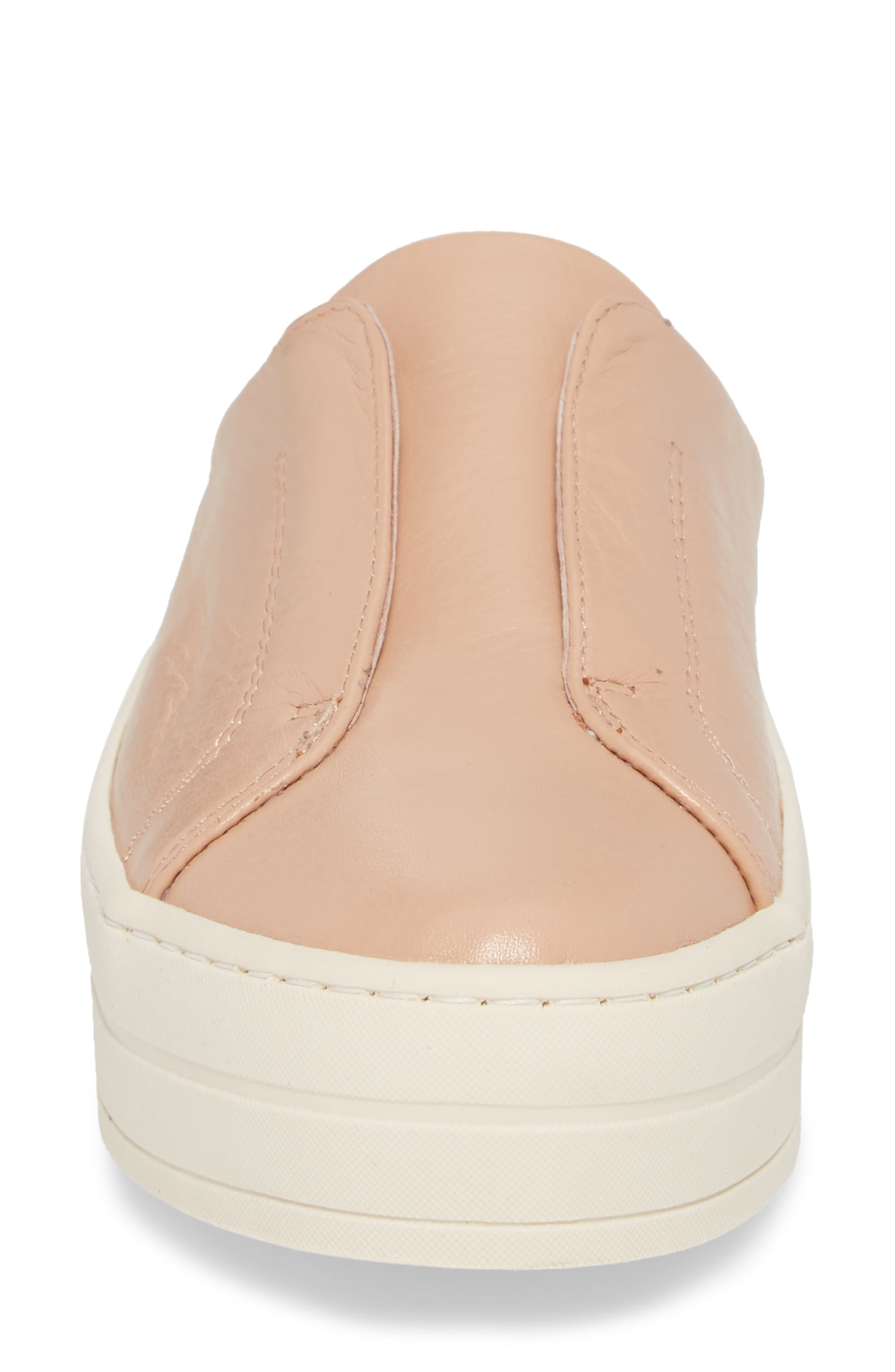 Hara Sneaker Mule,                             Alternate thumbnail 4, color,                             BLUSH SUEDE