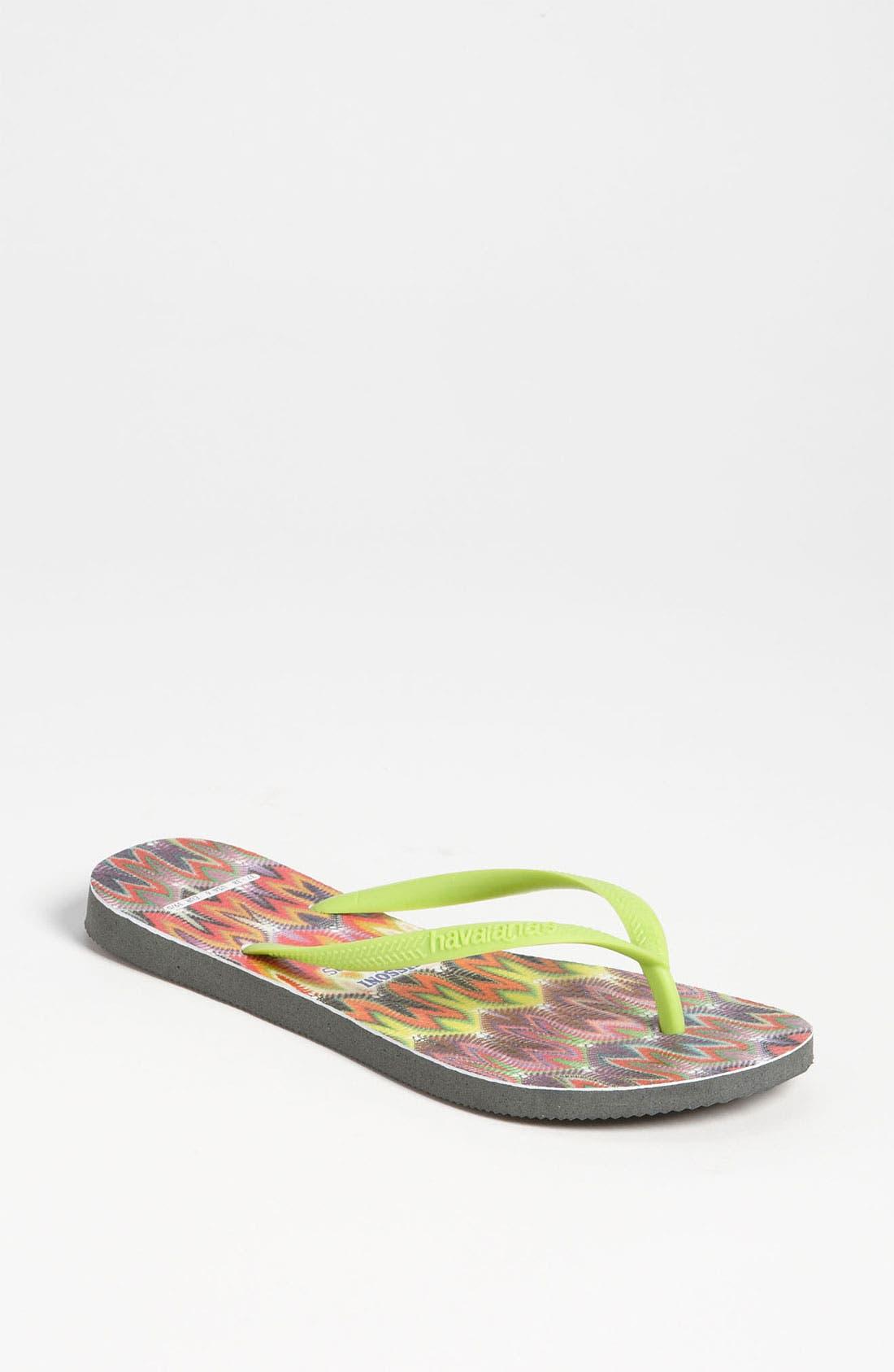 Missoni Loves Havaianas 'Slim - Rachel' Flip Flop,                         Main,                         color, 300