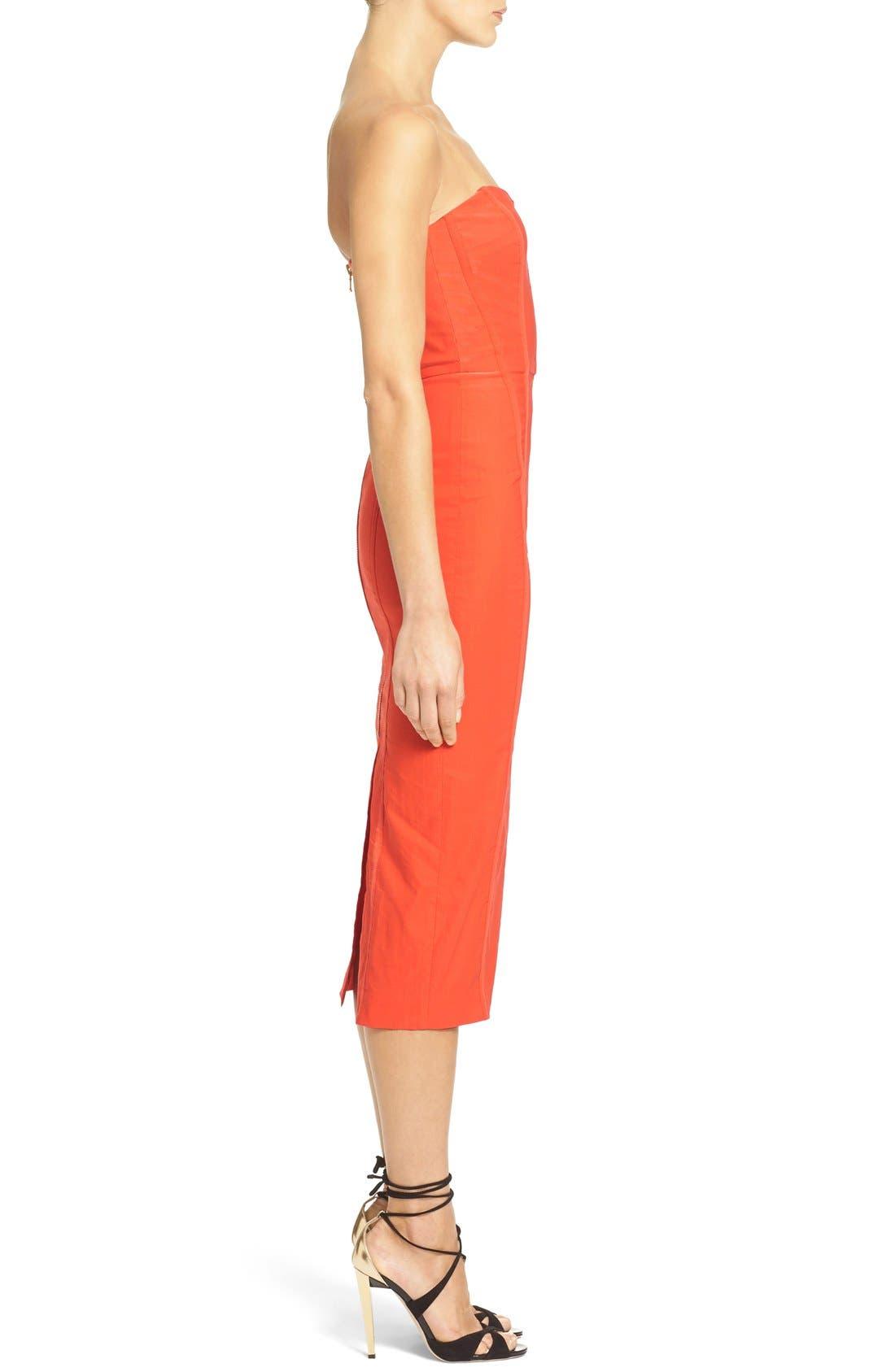 'Maui' Strapless Bustier Dress,                             Alternate thumbnail 5, color,                             606
