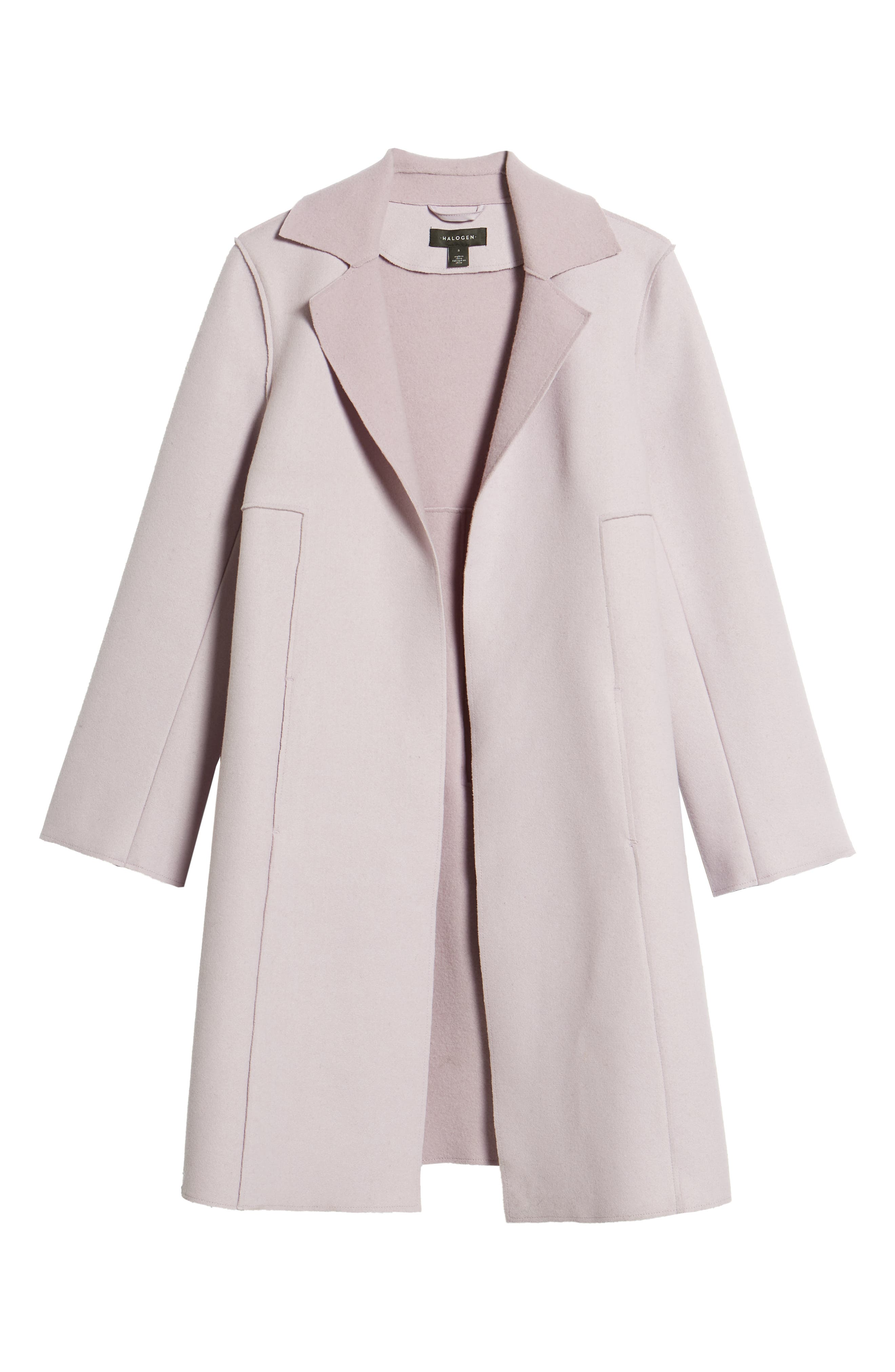 Raw Edge Wool-Blend Clutch Coat, Alternate, color, ICY LAVENDER