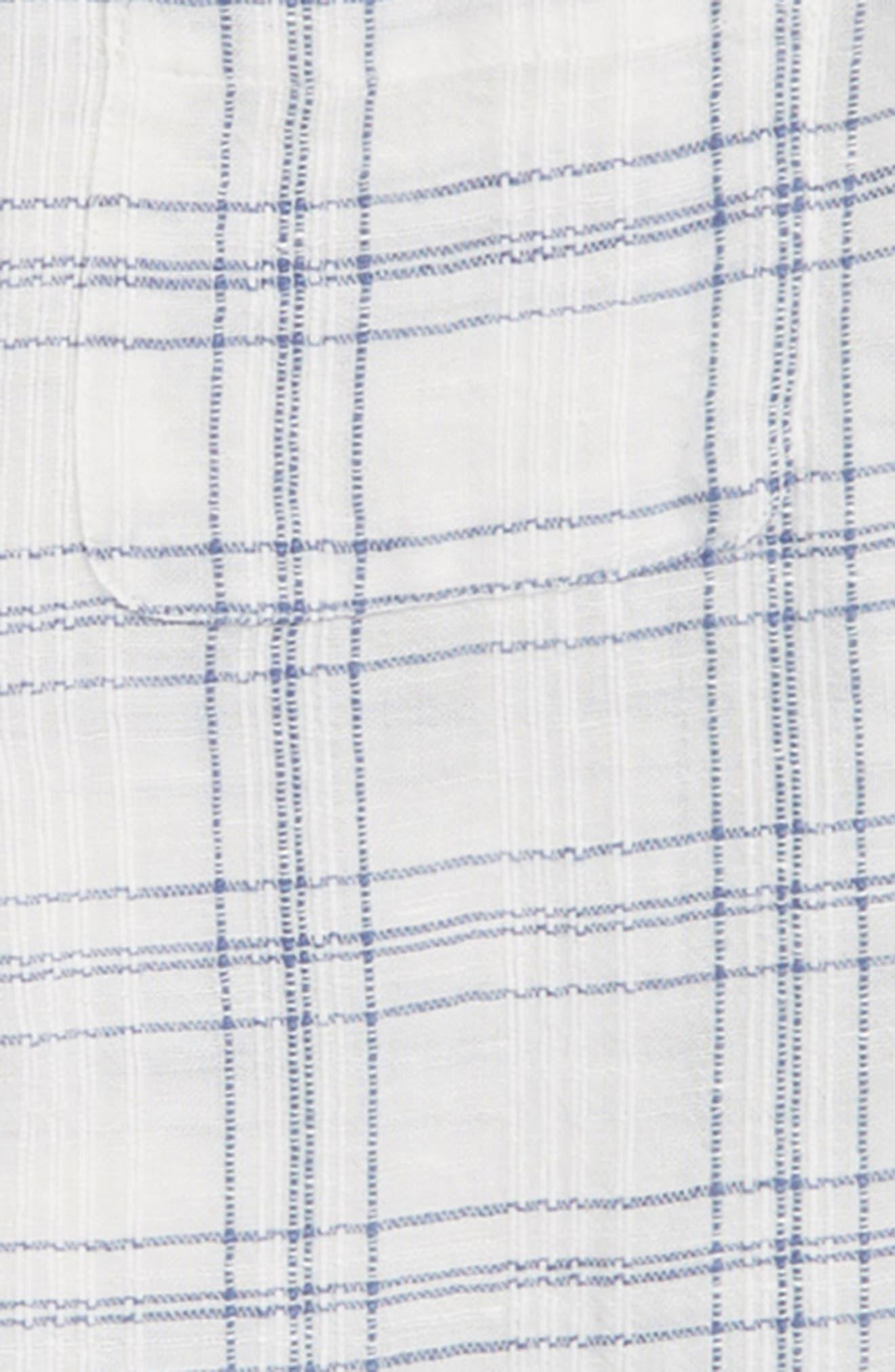 CREWCUTS BY J.CREW,                             Windowpane Band Collar Linen Blend Shirt,                             Alternate thumbnail 2, color,                             900