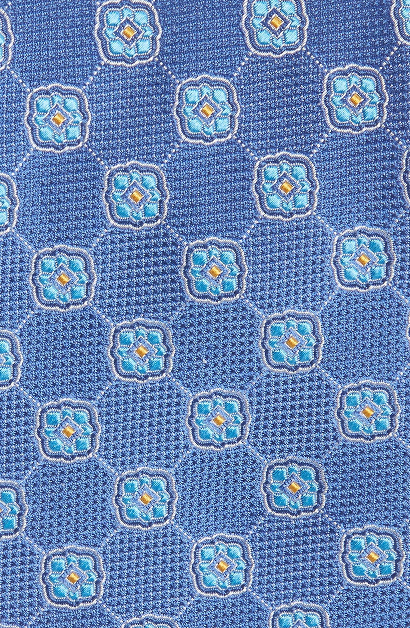 Geometric Medallion Silk Tie,                             Alternate thumbnail 2, color,                             400