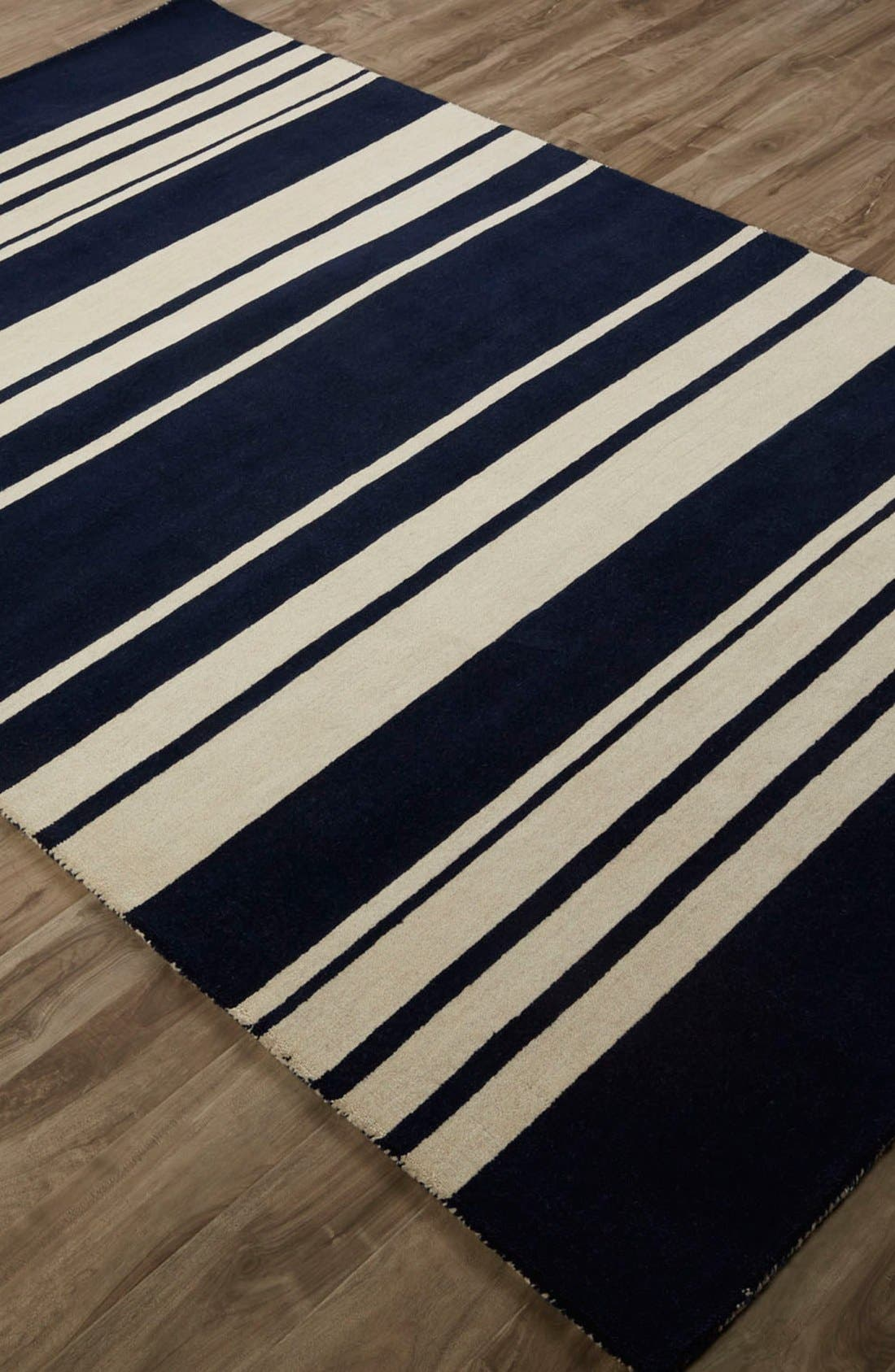 'astor stripe' wool rug,                             Alternate thumbnail 4, color,
